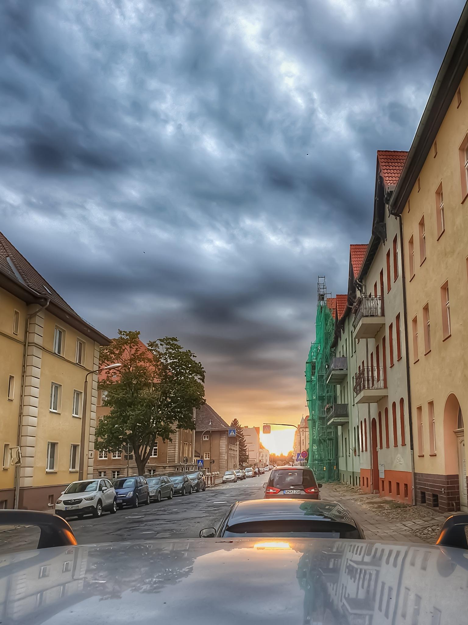 sunset in the City by Sebastian Kamp