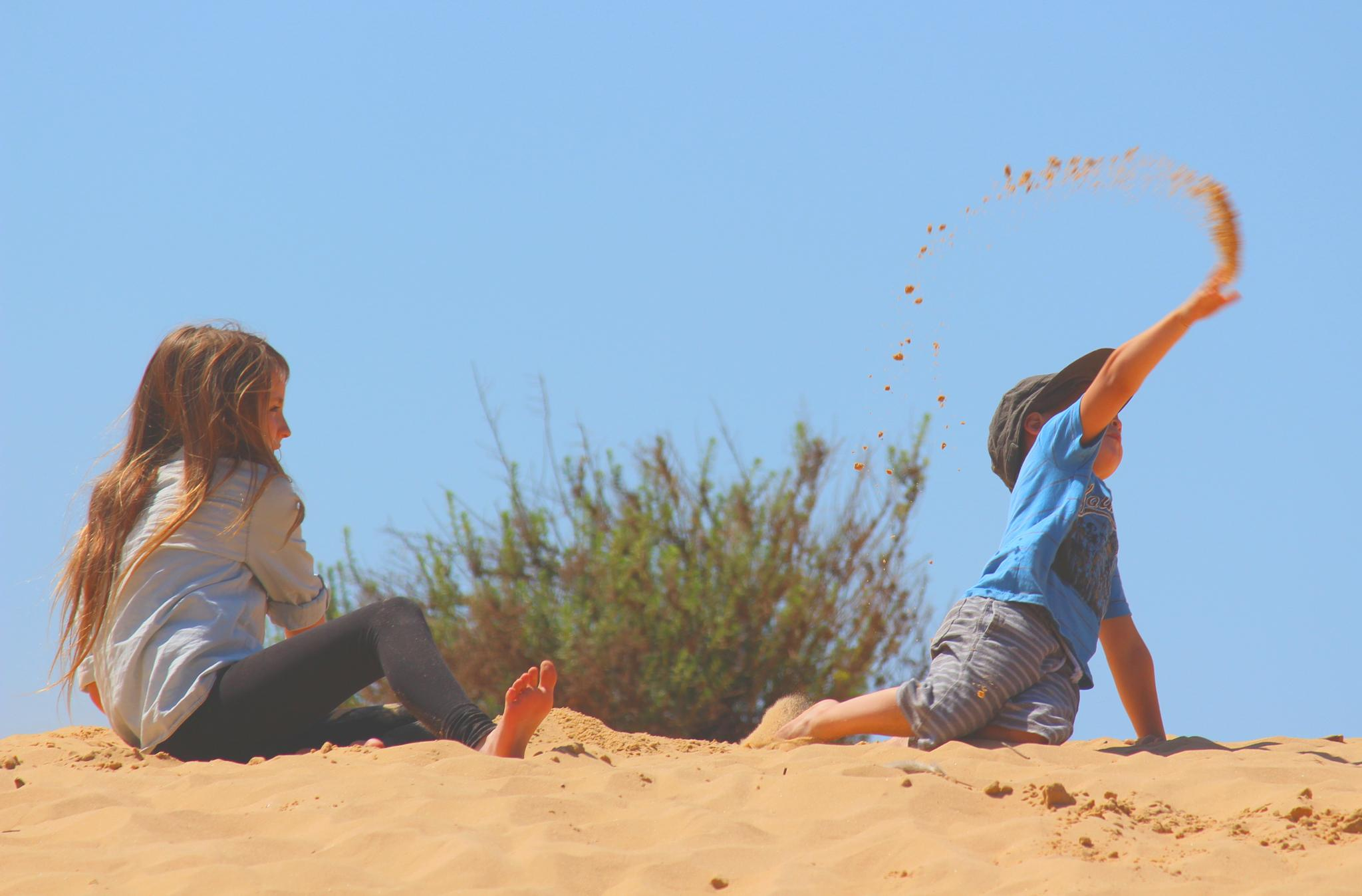Playing in the sand by dany.kahanovitch