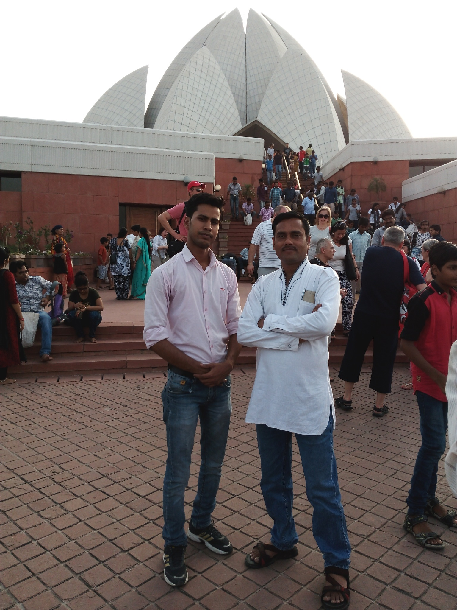 Me with my Uncle sri at Lotus Temple Delhi by Shailendra Prajapati