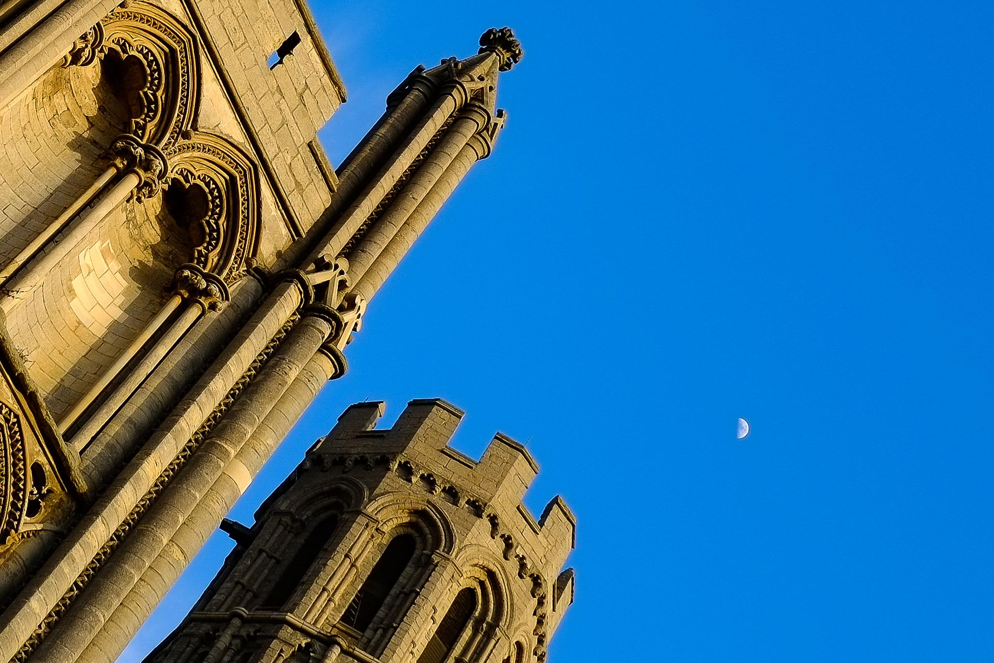 Ely Cathedral and the Moon by Mike Howe