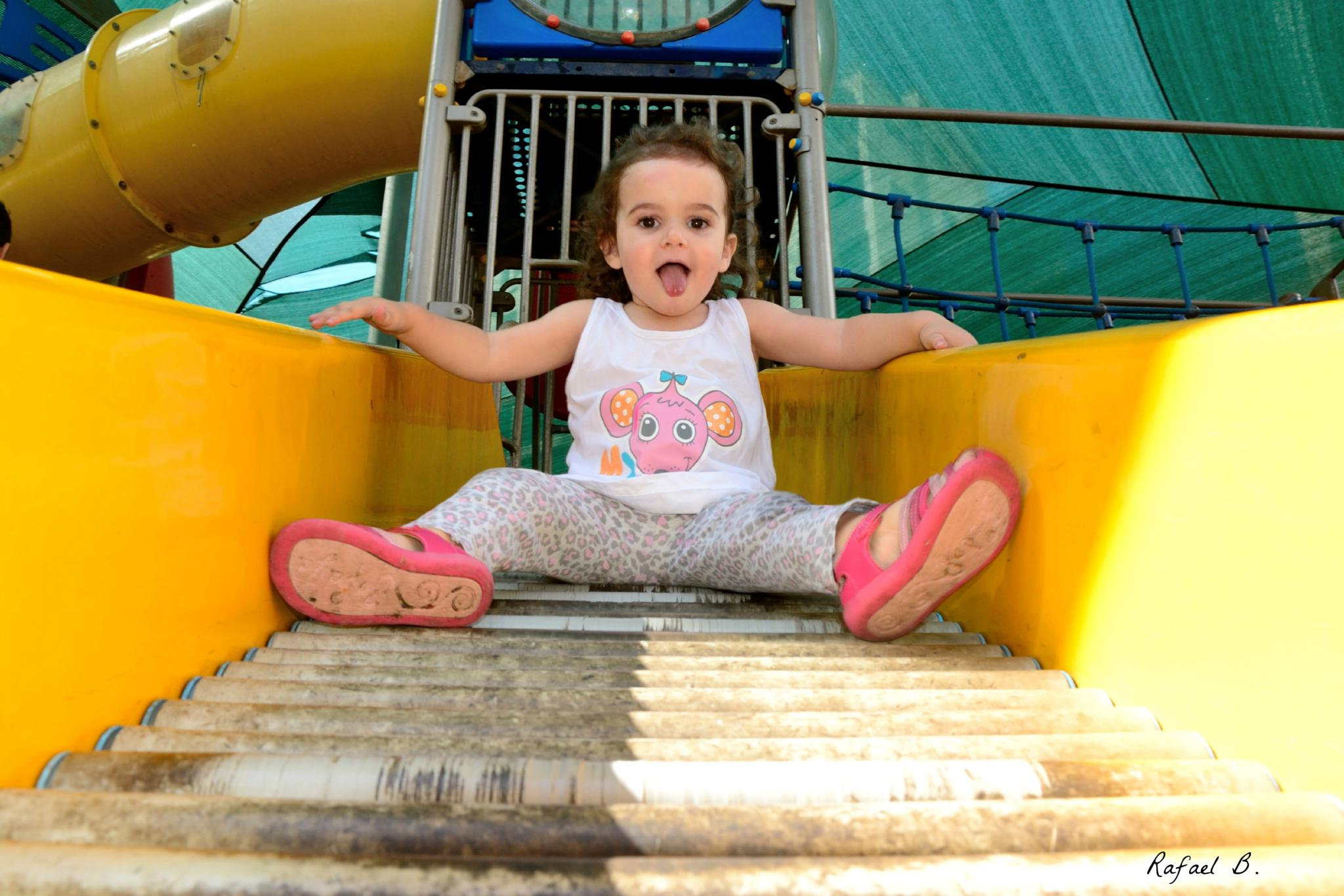 Princess on the slide by raymond.r.borenstein