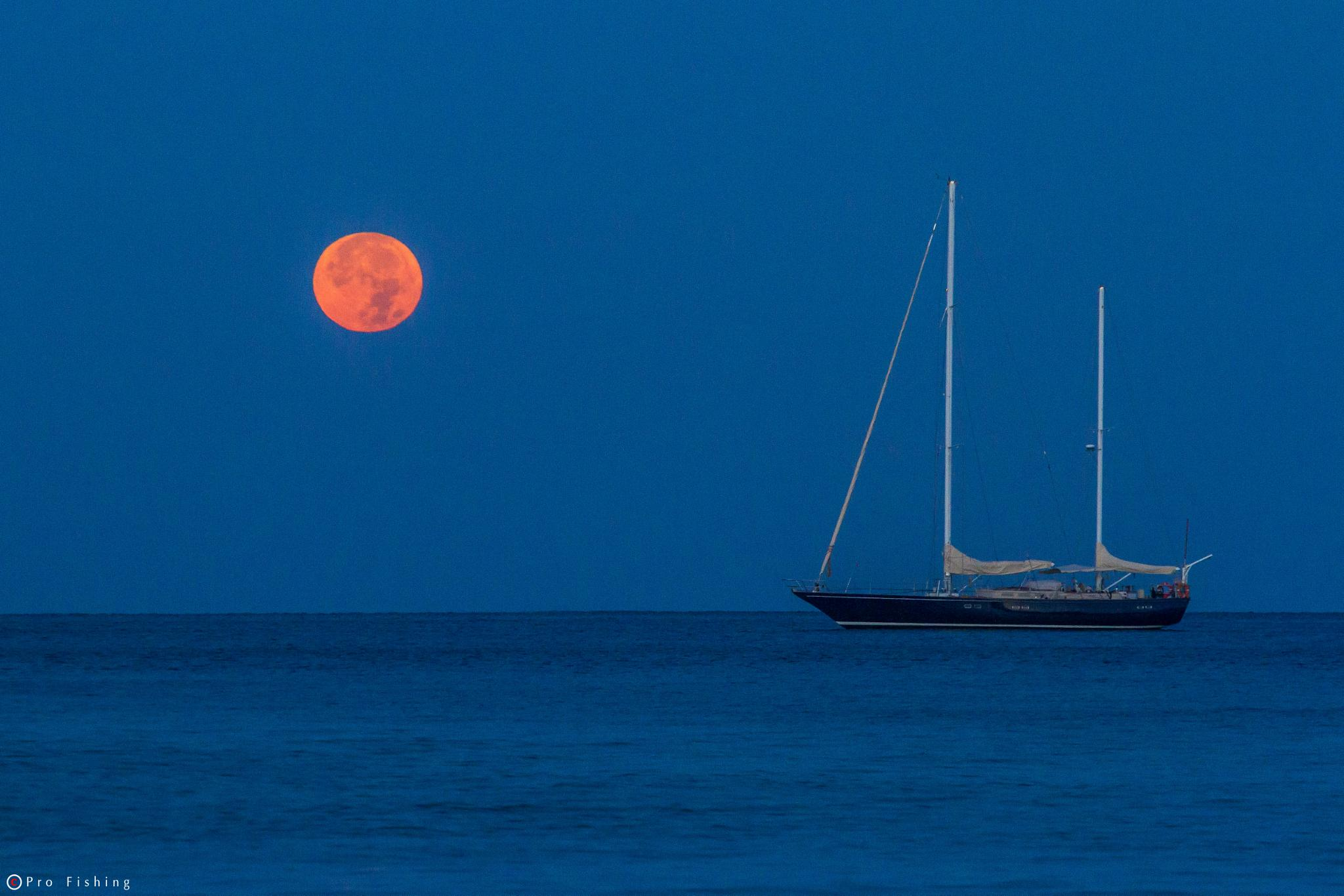 Moon fall by Pro Fishing Photographer