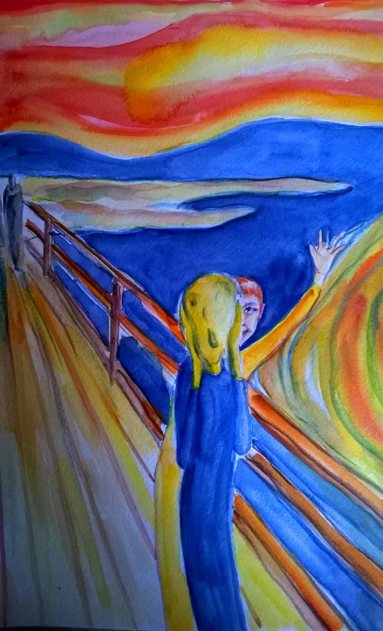 "interpretation of the ""scream"" by E. Munch by primocolibri"