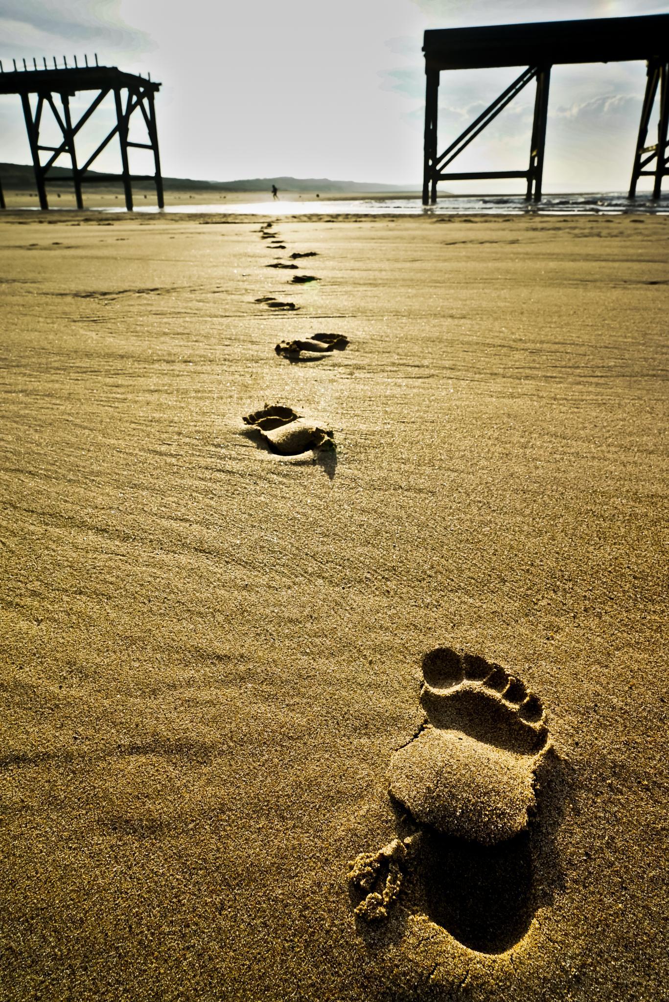 Foot prints by Peter Edwardo Vicente.