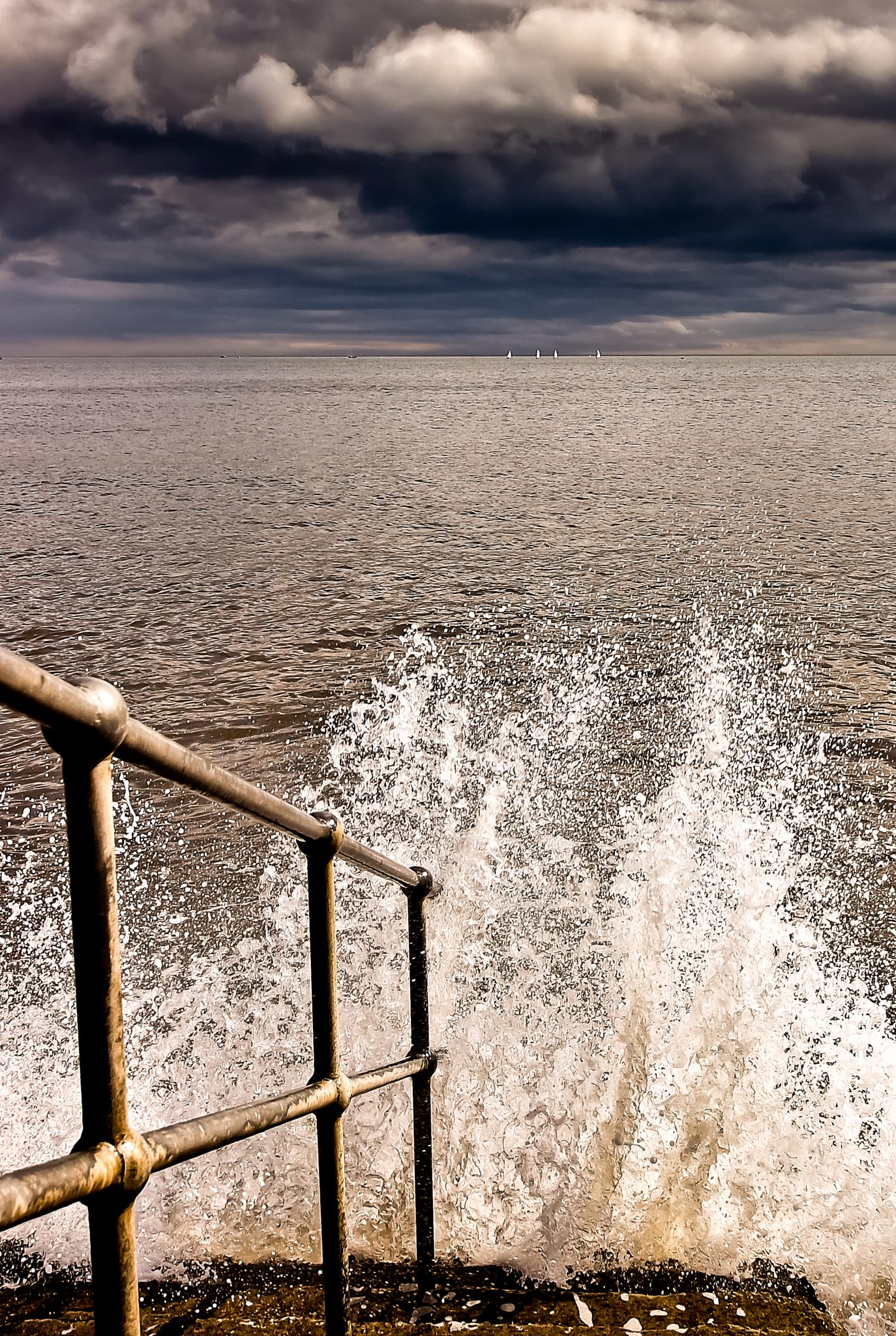 Photo in Sea and Sand #hand rail