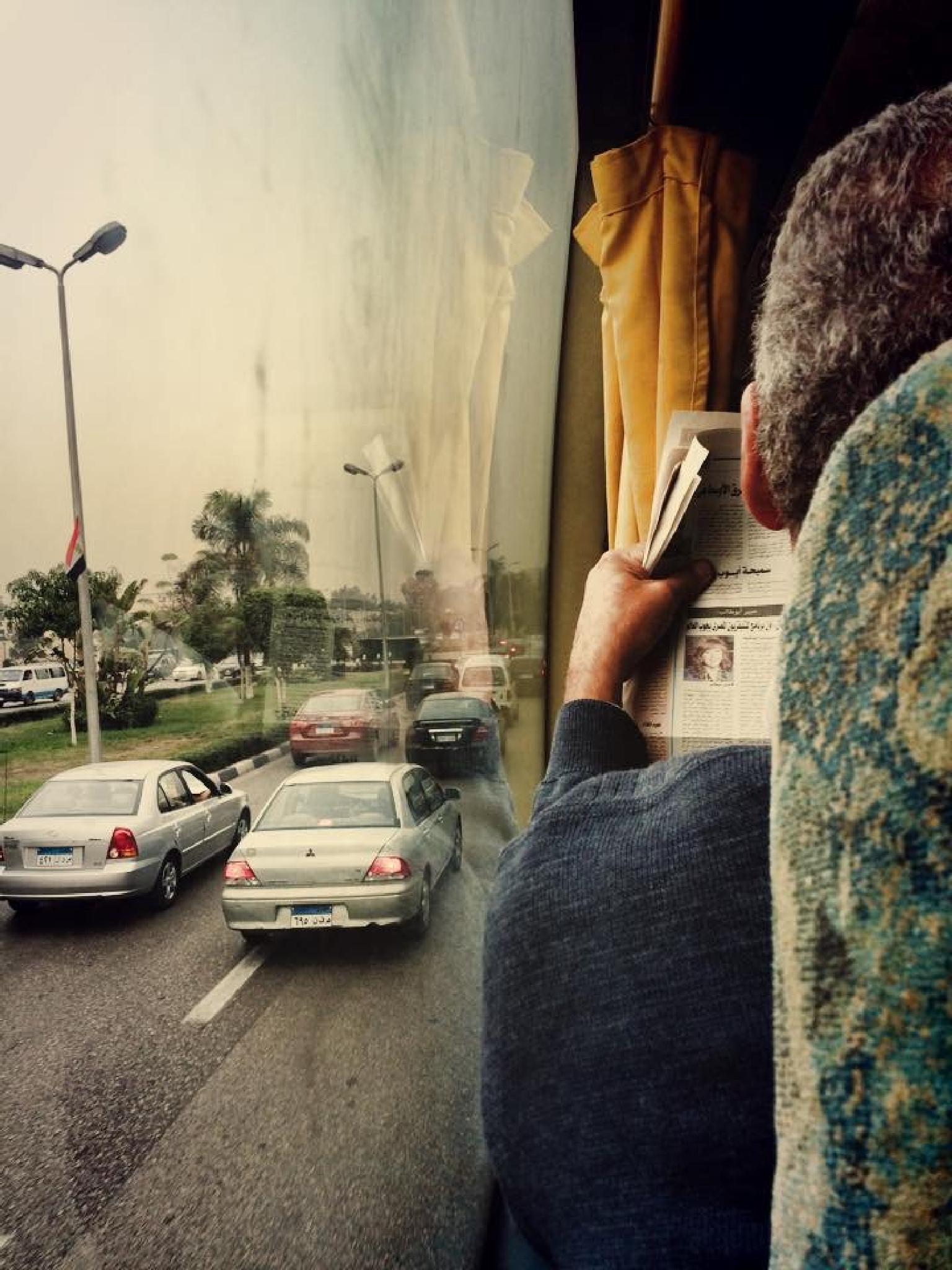 newspaper bus by ahmed gamal abdalfattah