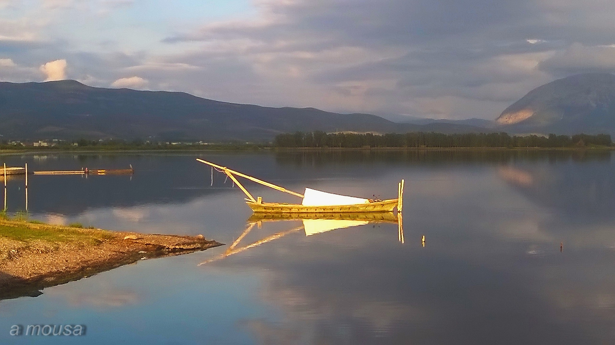 fishing boat at Messolonghi lagoon by alexandra.tsamimousa
