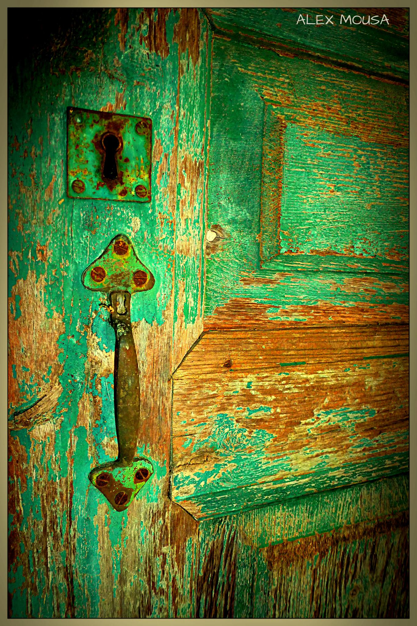 old door detail by alexandra.tsamimousa
