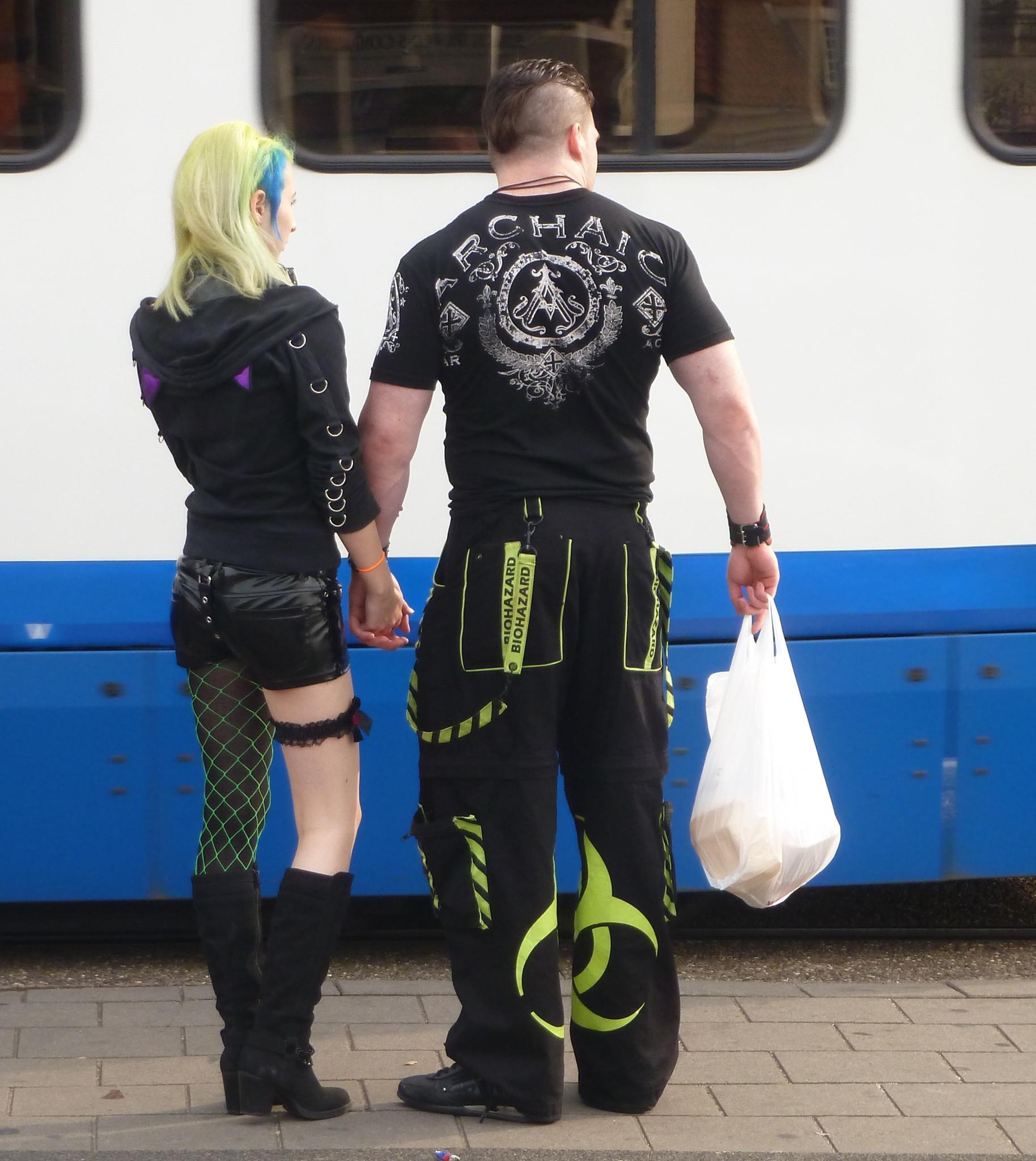punk couple in Amsterdam by alexandra.tsamimousa