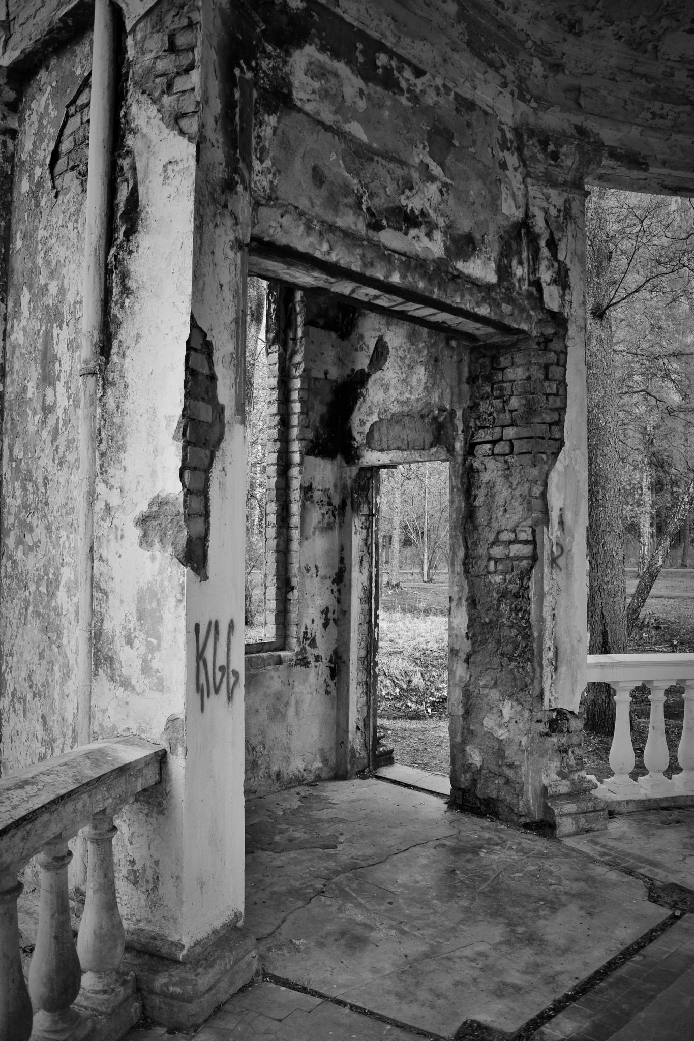 Photo in Black and White #ruins