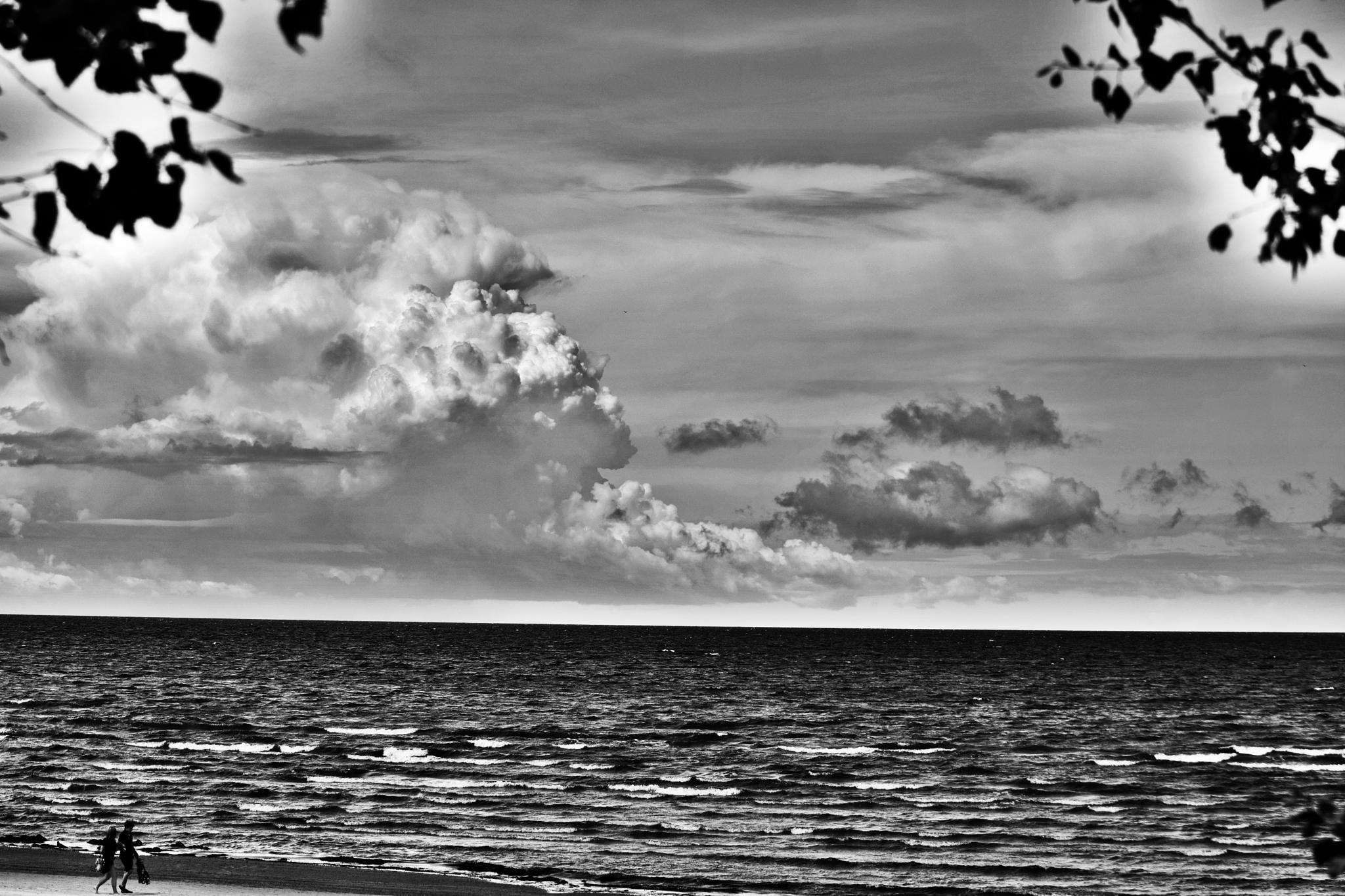 Clouds. Sea. People. by Art Wind
