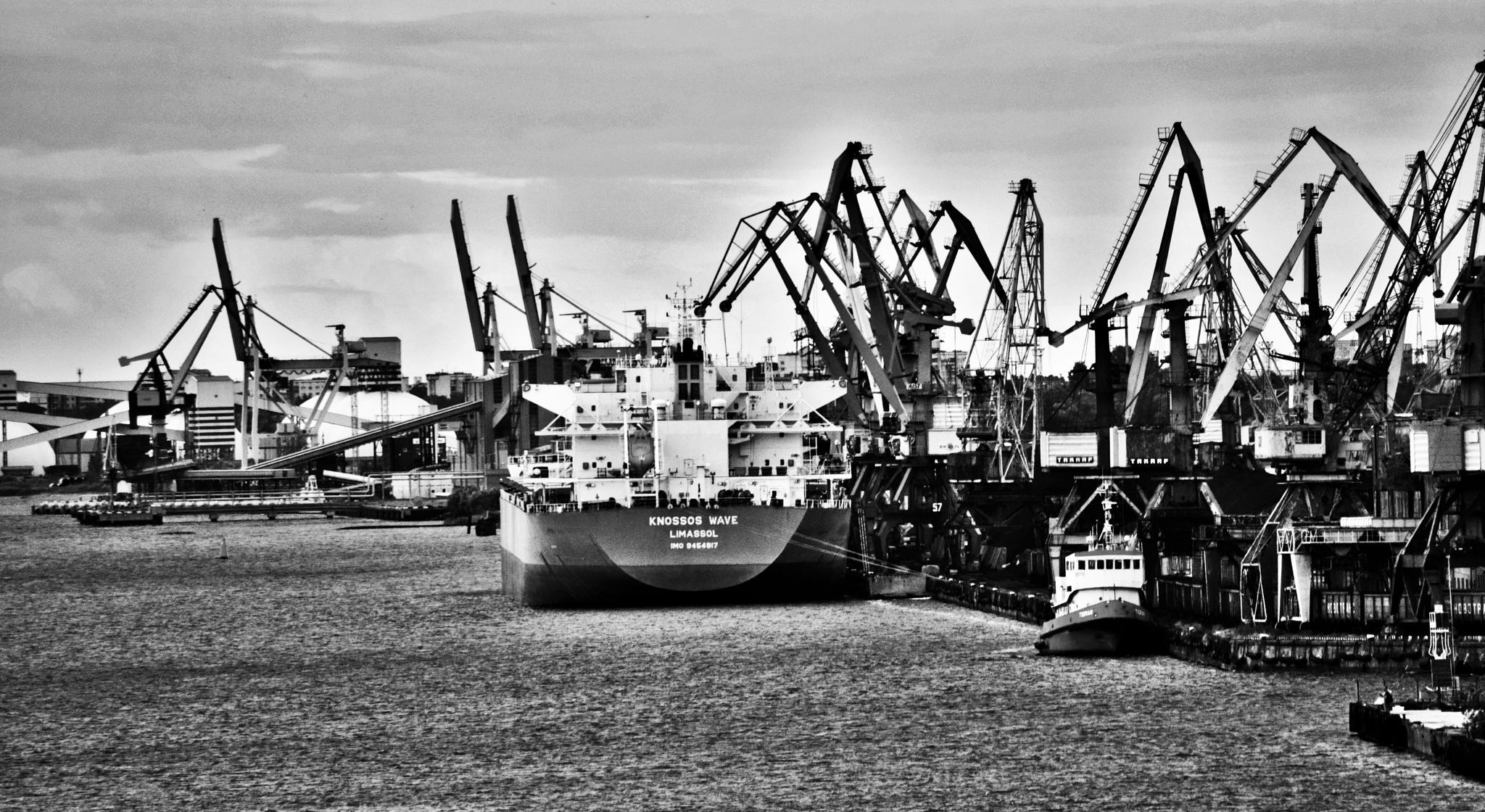 Riga port by Art Wind