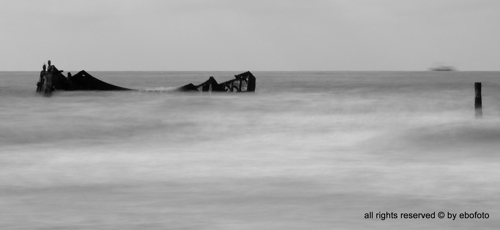 ship wreck at northsea  by erik.boer.39