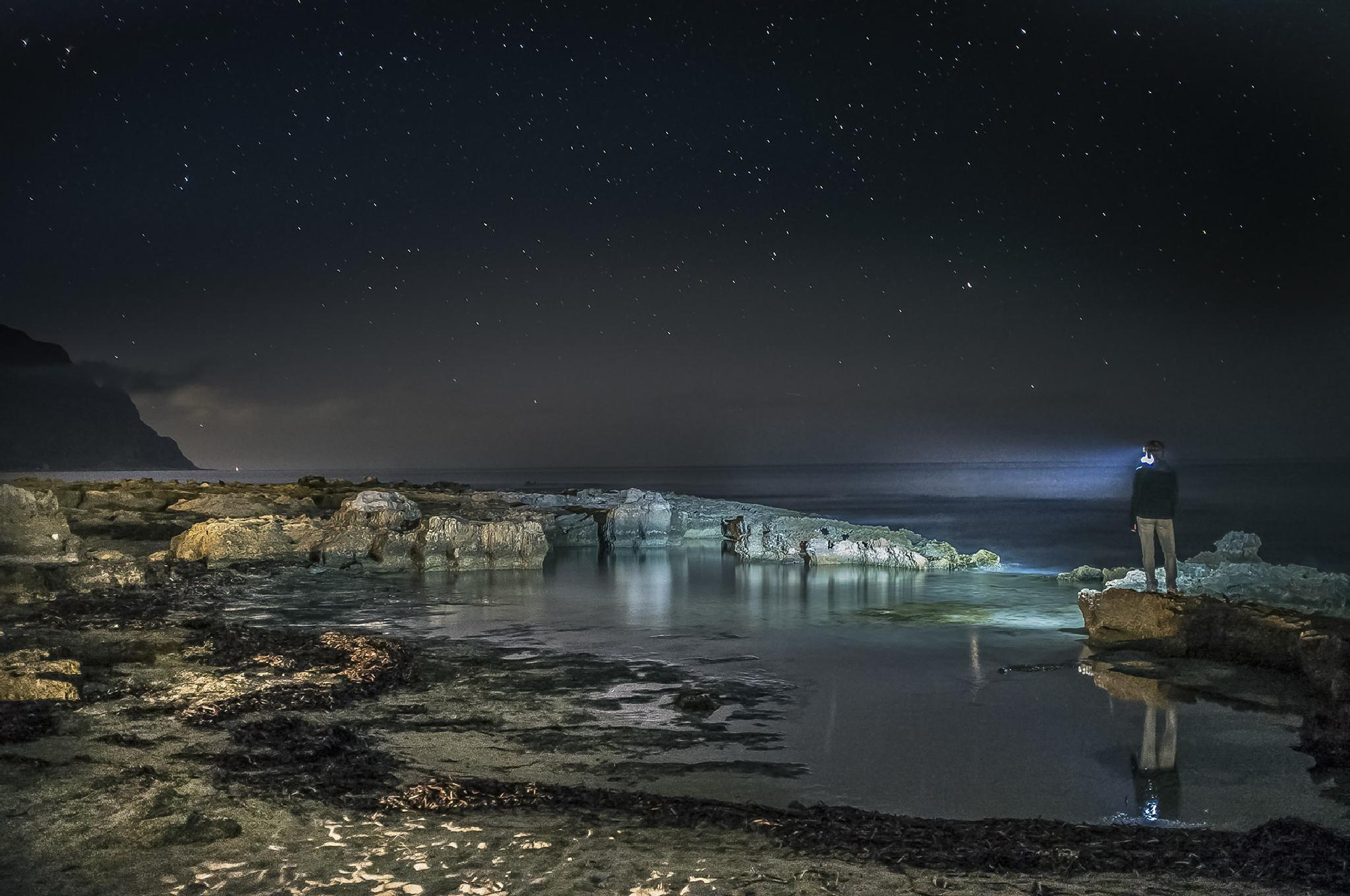 Stars in the night, Macari, october by Giuseppe Fallica