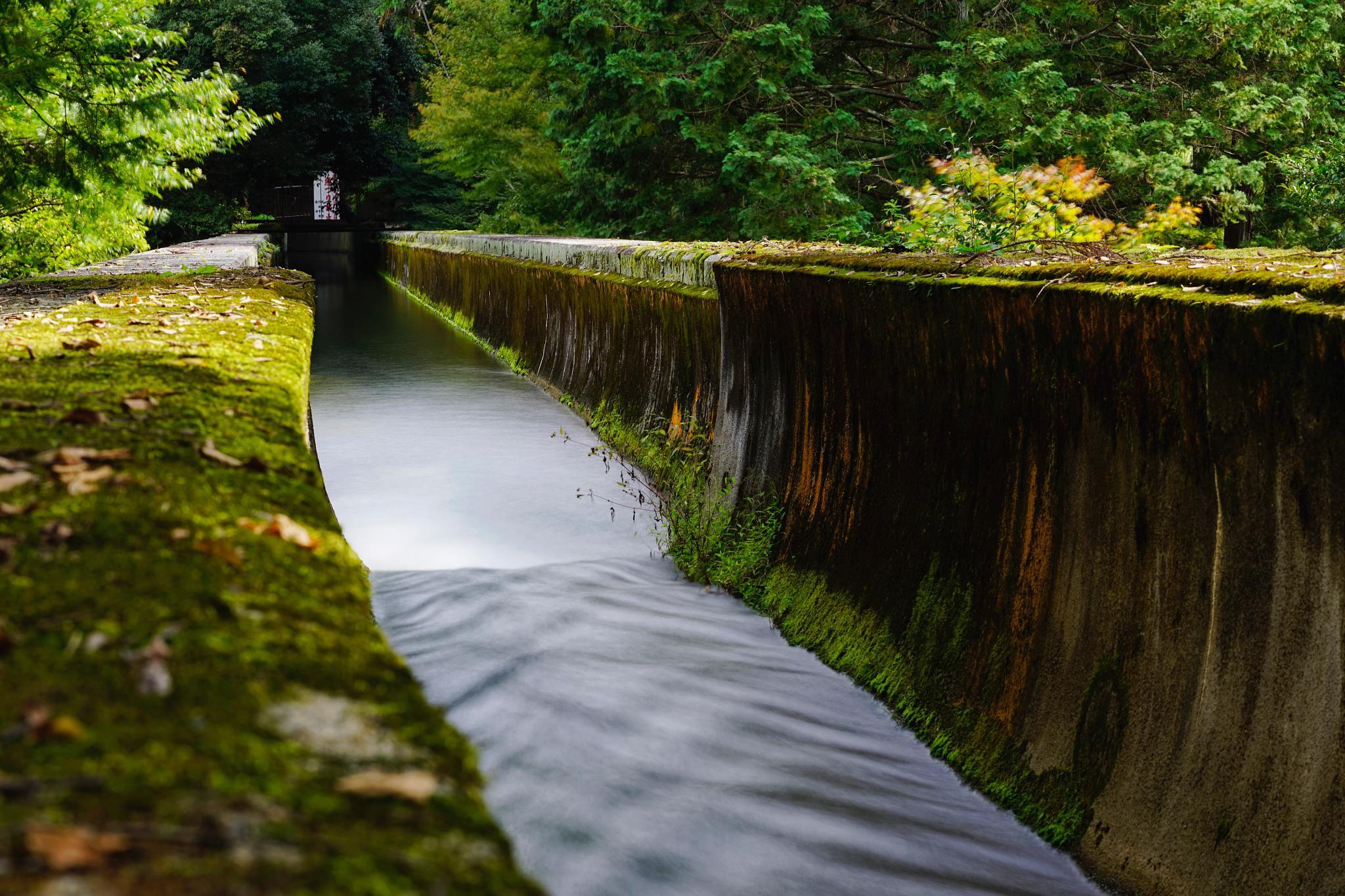 Suirokaku aqueduct inside the Nanzenji temple. by torsomania