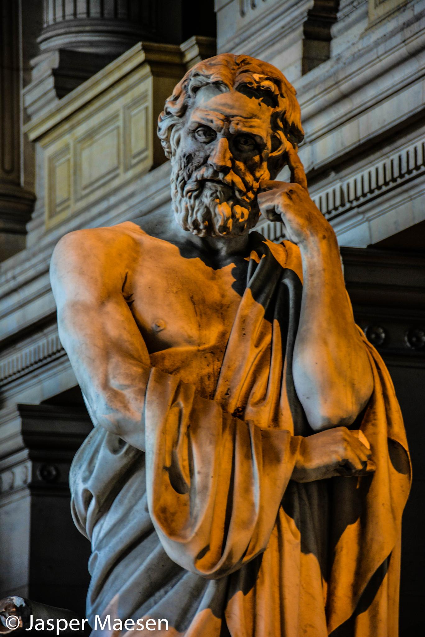 Statue of a wise man  by Jasma Photography