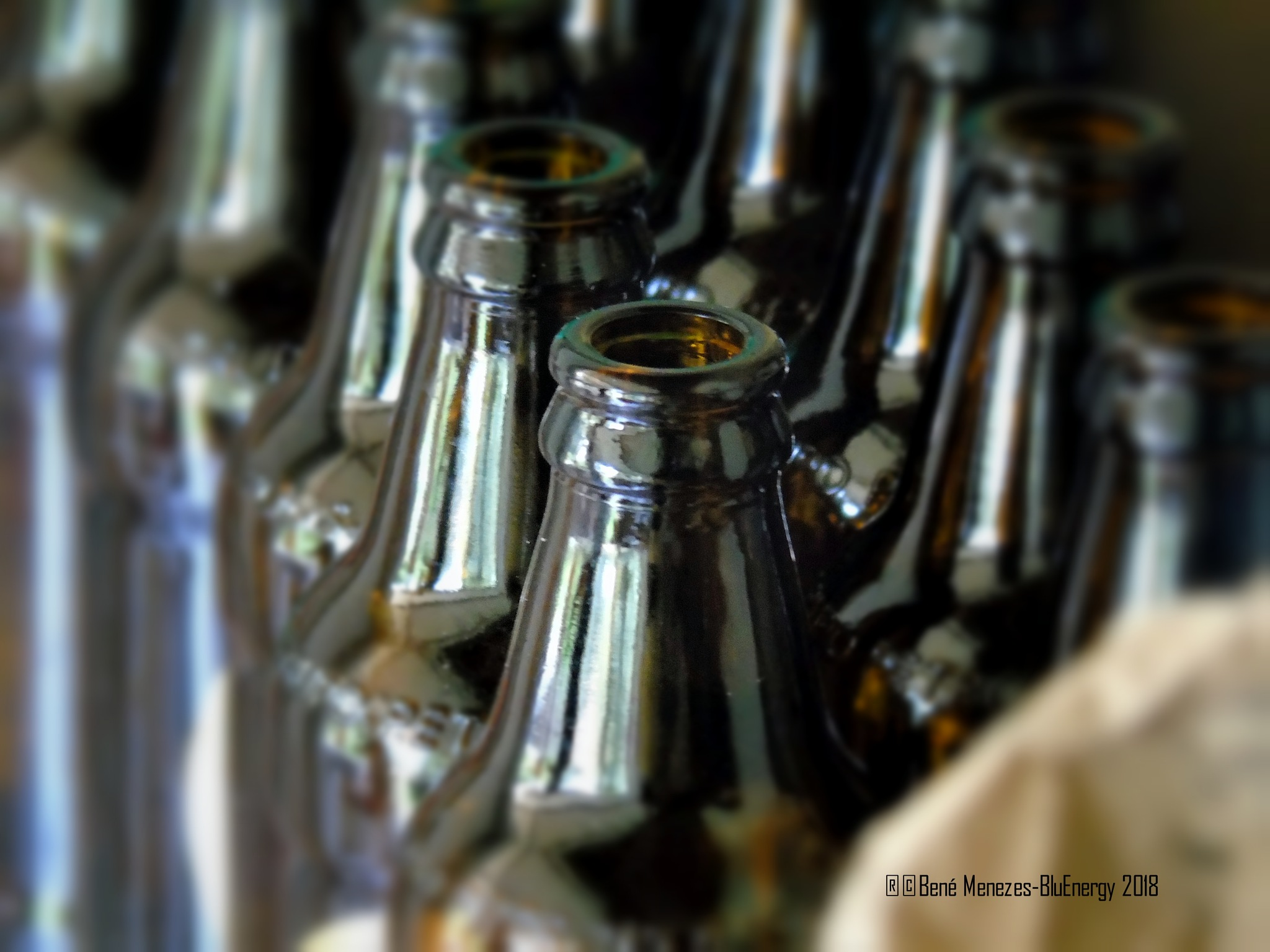 Empty Beer's Bottles, After The Party...Happy New Year's Party Was so Cool... by Bené Menezes