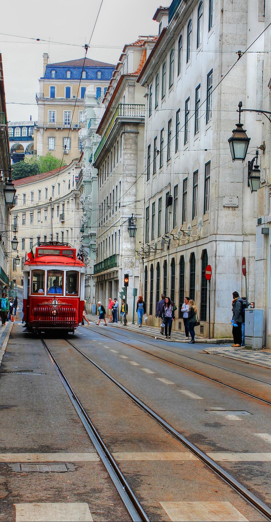 Photo in Cityscape #lisboa #elétrico #baixa pombalina #rua augusta