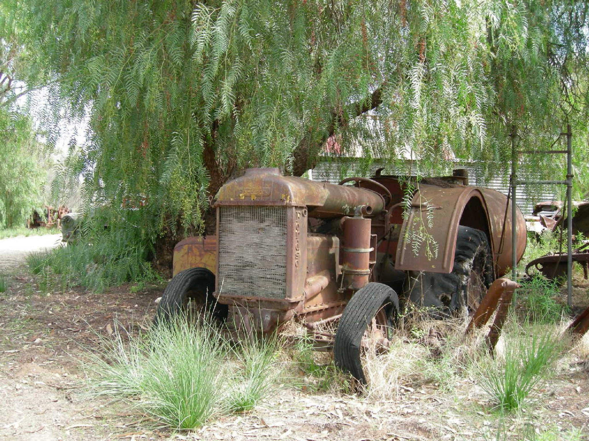 Photo in Vehicle #australia #tourist #rural #tractor #vintage