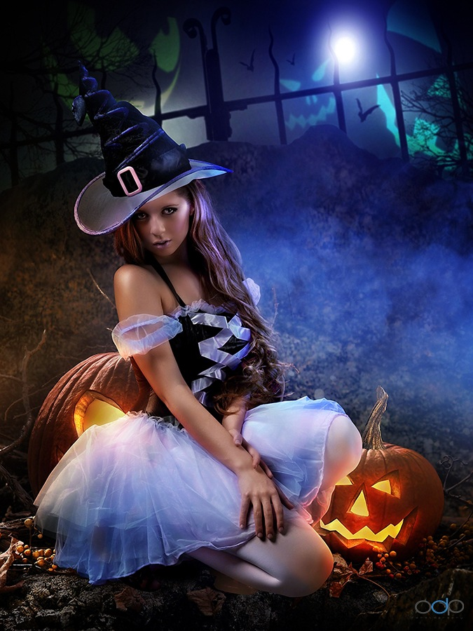 Halloween, pumpkin and witch . . . by OneDigitalPlacePhotography