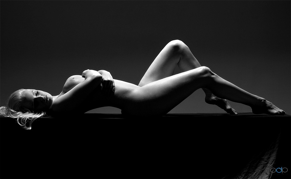 Artistic nude bodyscape in black and white #2 . . . by OneDigitalPlacePhotography