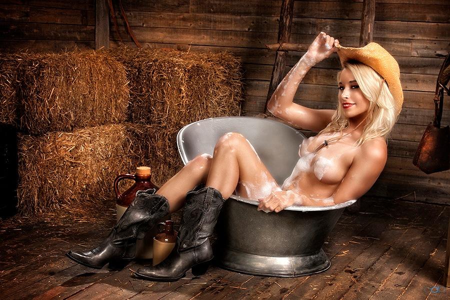 Rockin' the barn house tub . . . by OneDigitalPlacePhotography