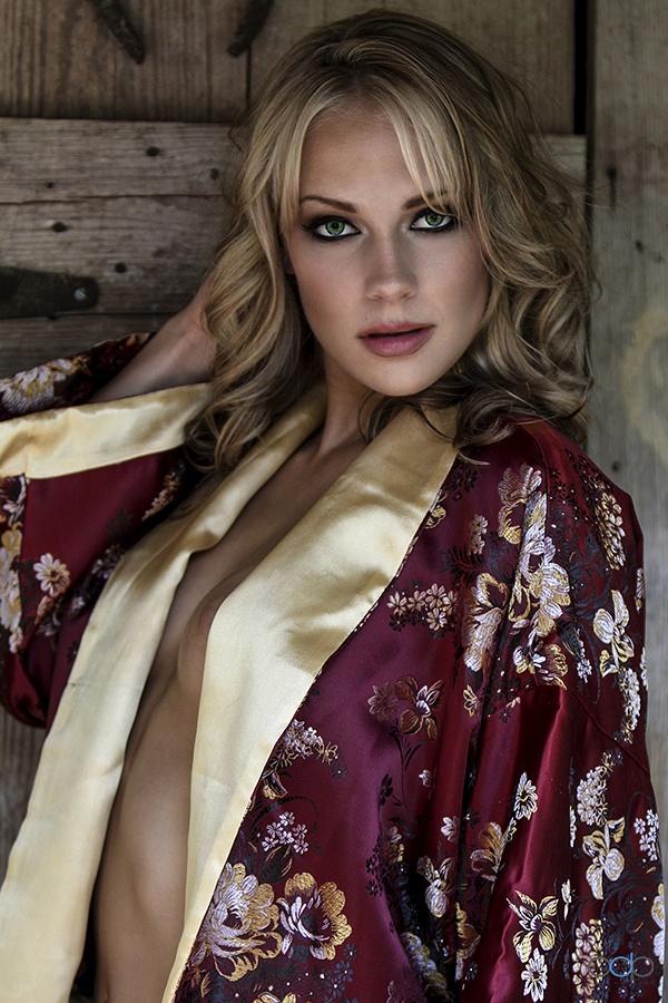 Silk robe tease . . . by OneDigitalPlacePhotography