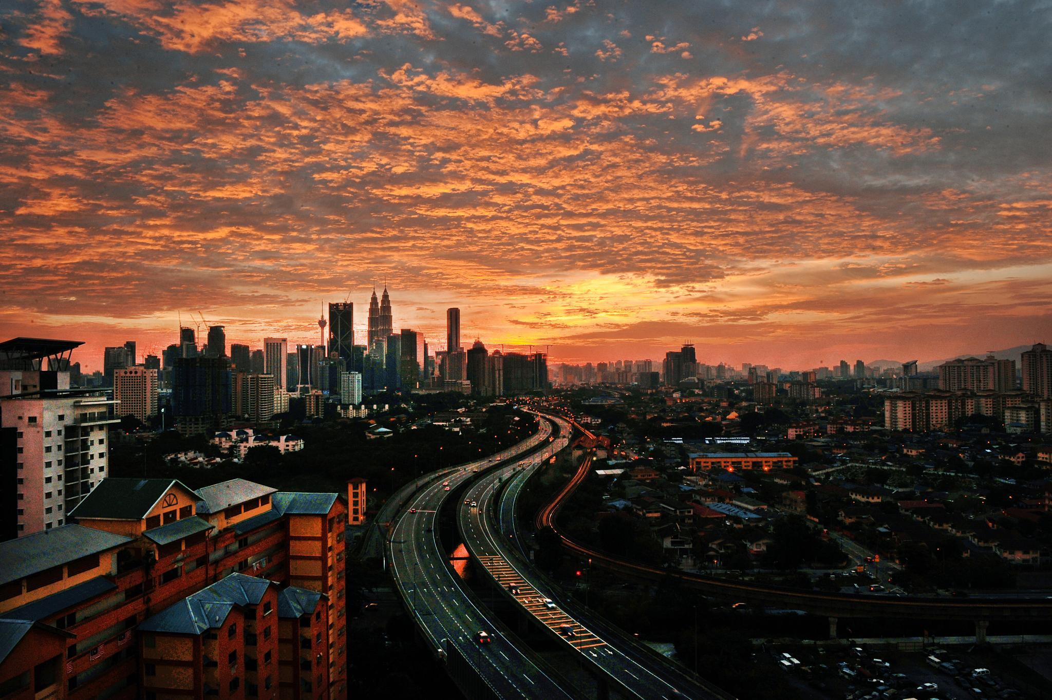 KL Sunset II by babul.abdullah