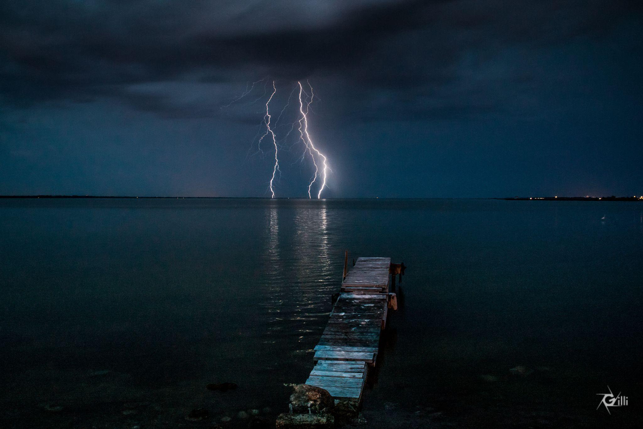 Thunder on the lake - Orage sur l'Etang de l'or by gilbertwayenborgh