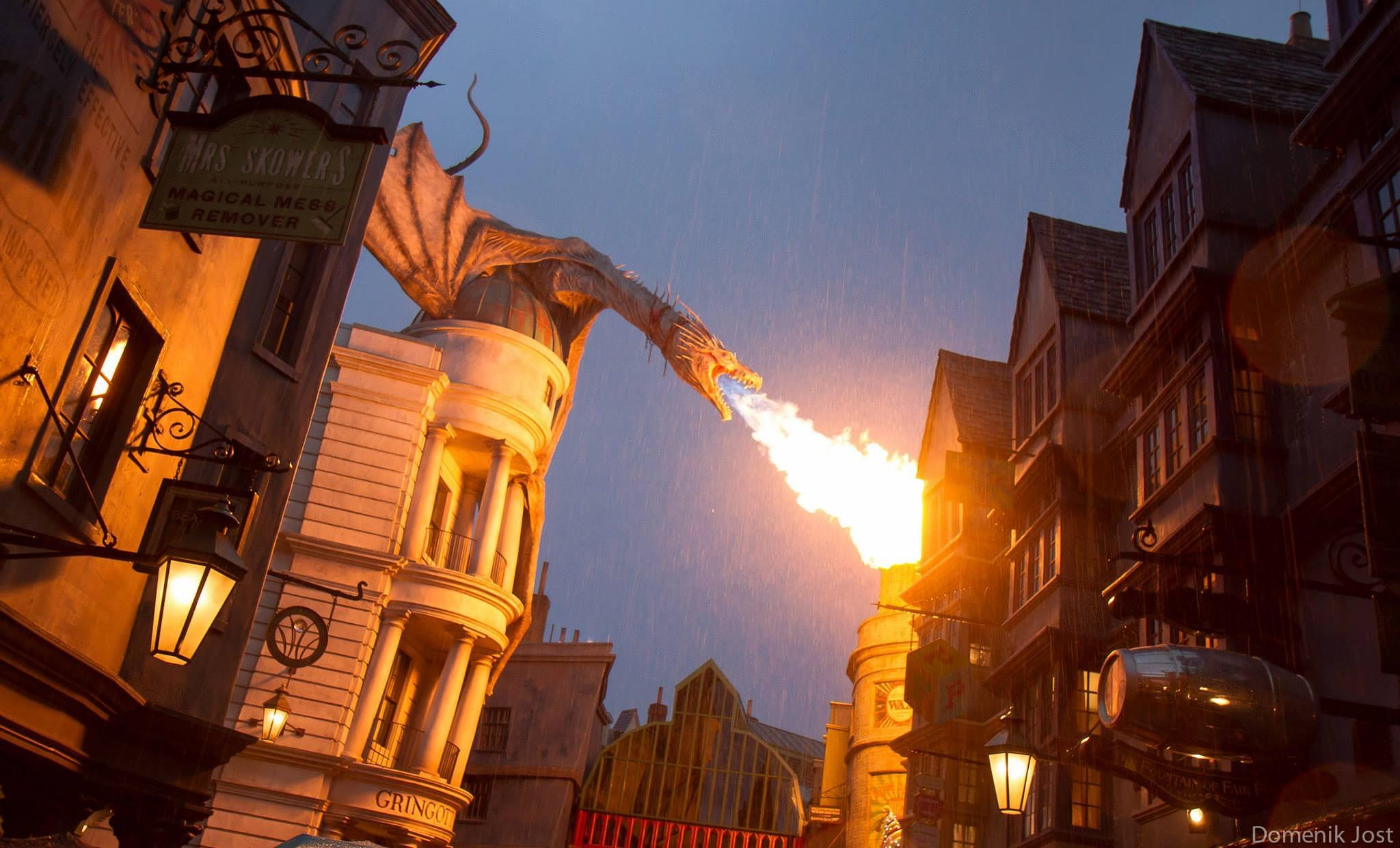 Photo in Travel #dragon #fire #gringotts #harry potter #diagon alley
