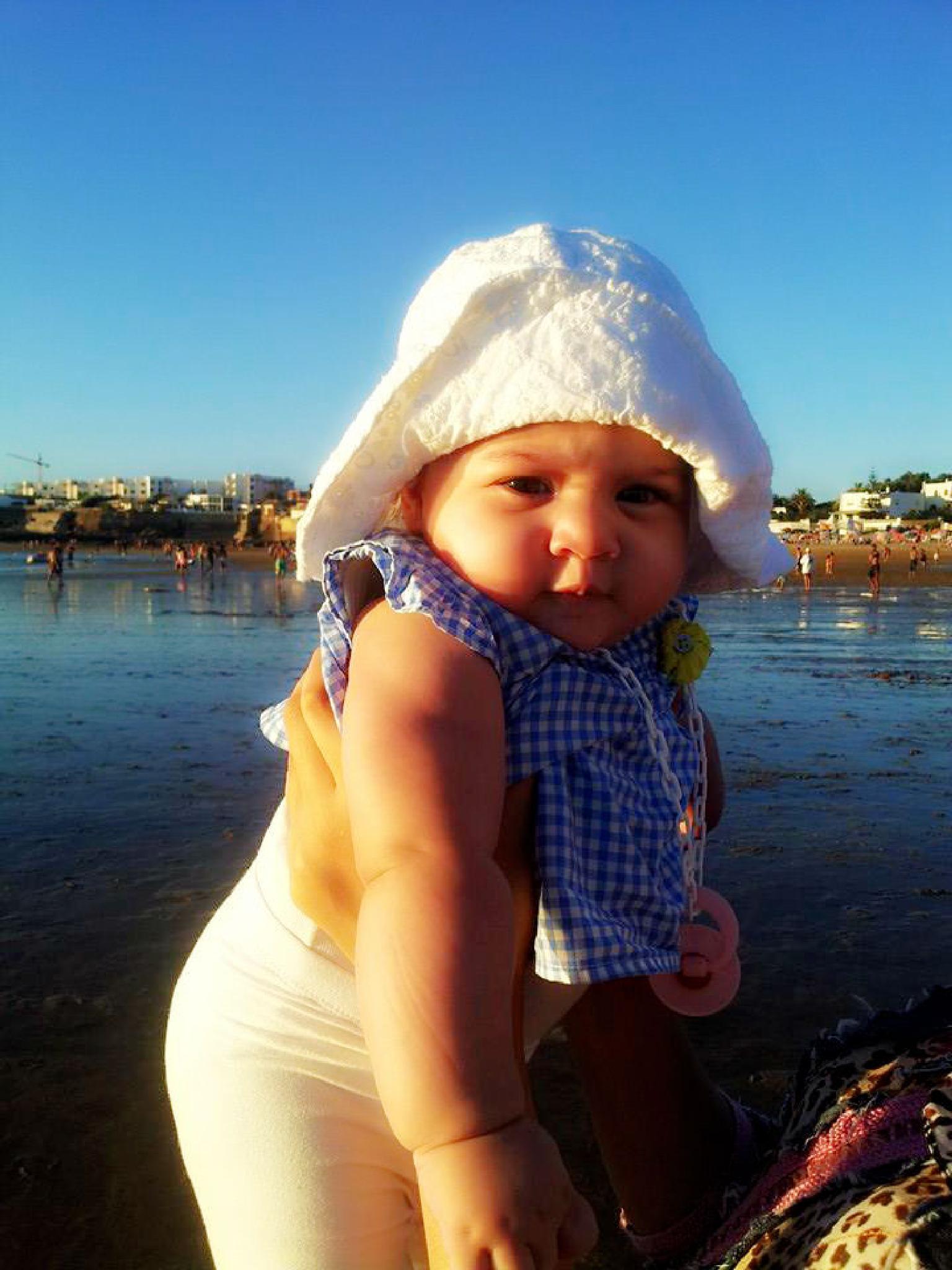 Photo in Family #baby #girl #sea #cute #morocco #moroccan