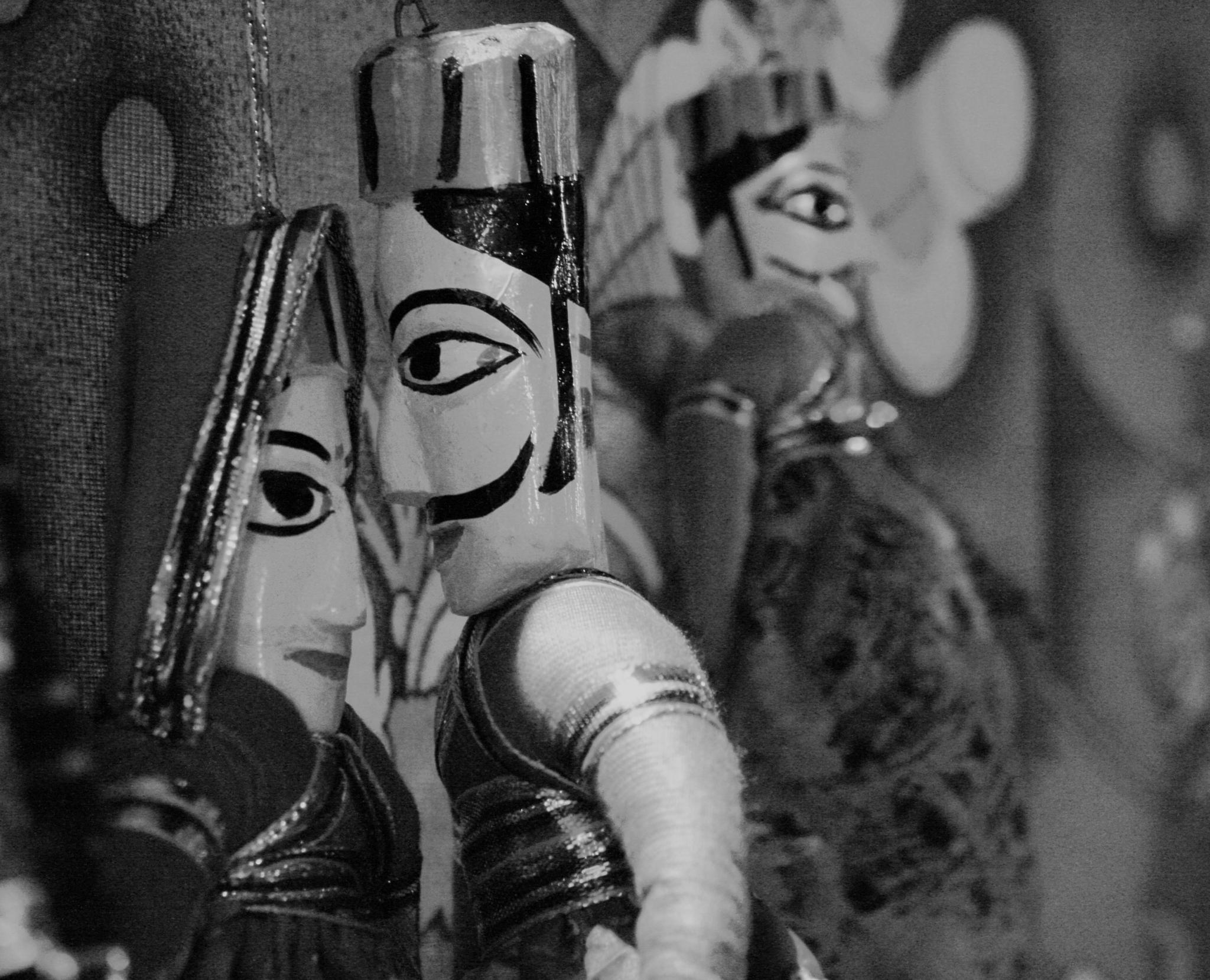 #puppets#black#and#white#rajasthan#couple#love by MeghaBhatt