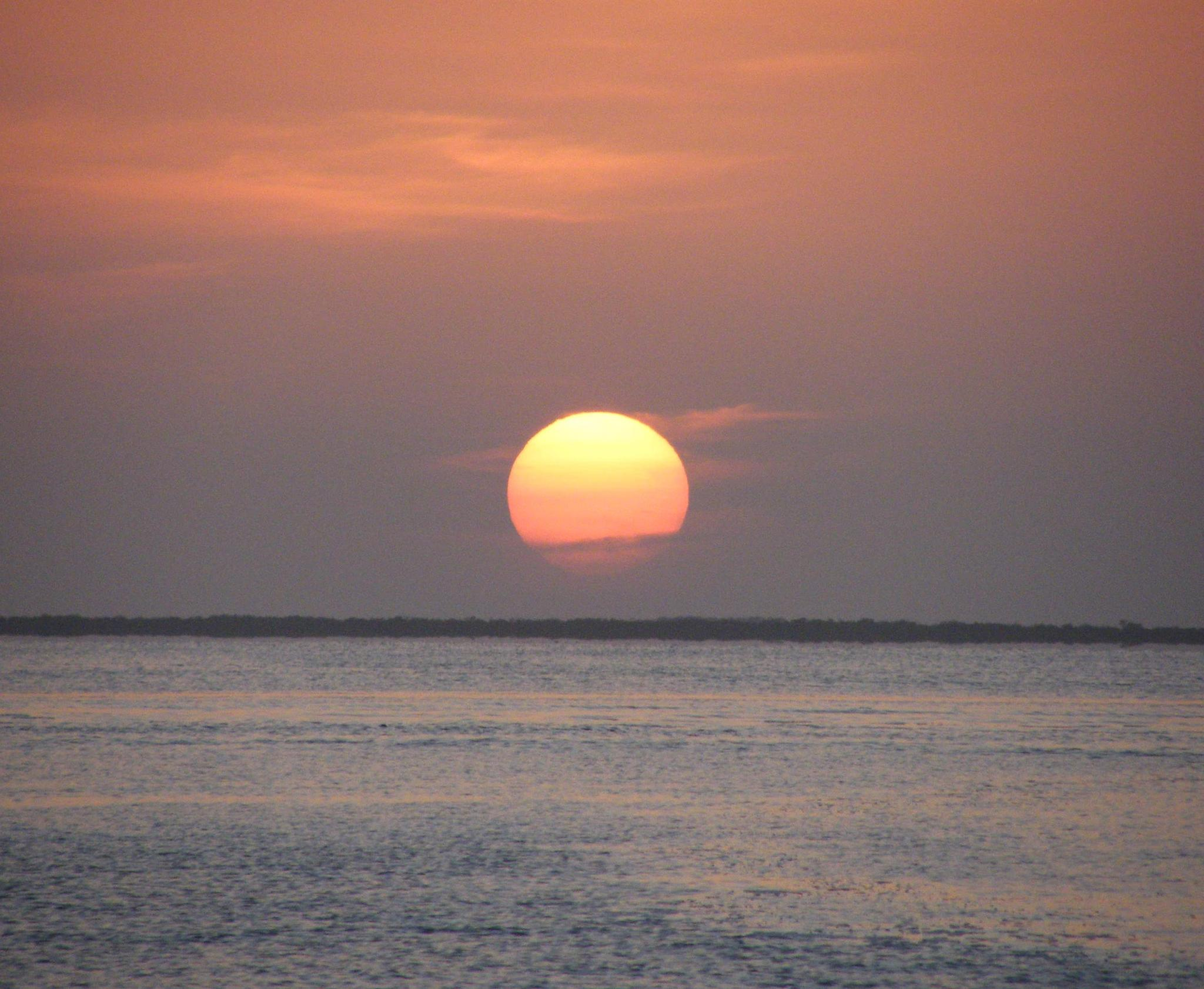 Sunset over Blackwater Sound in Key Largo by tanukisan