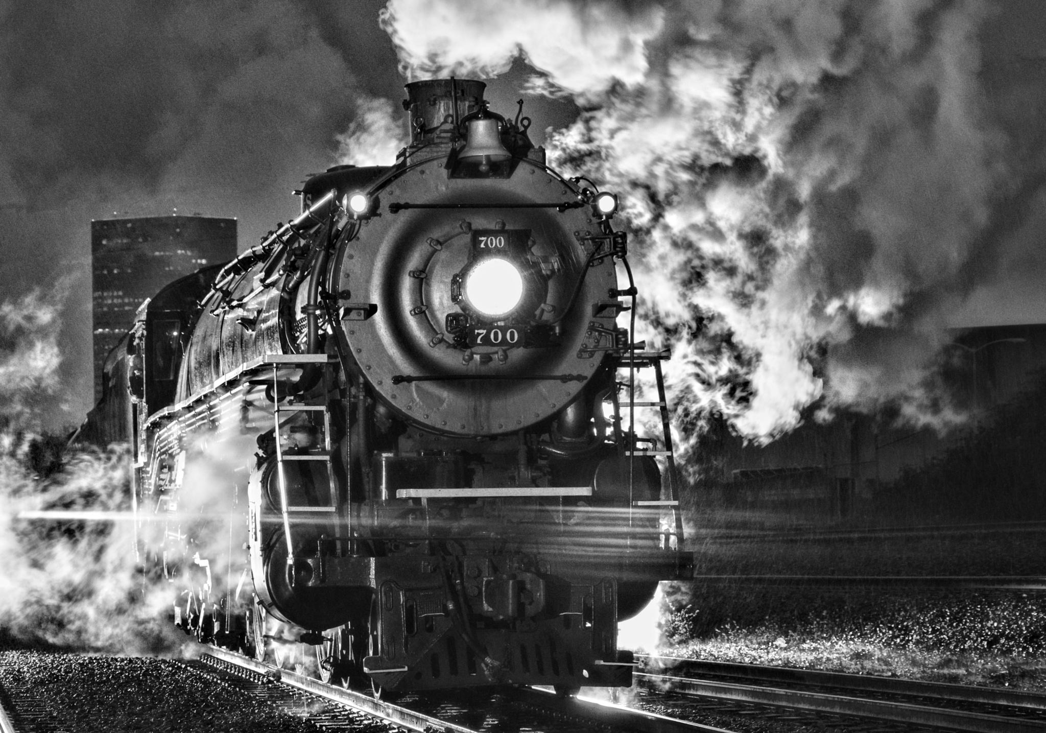 Engine 700 Night Black and White by Boonietunes