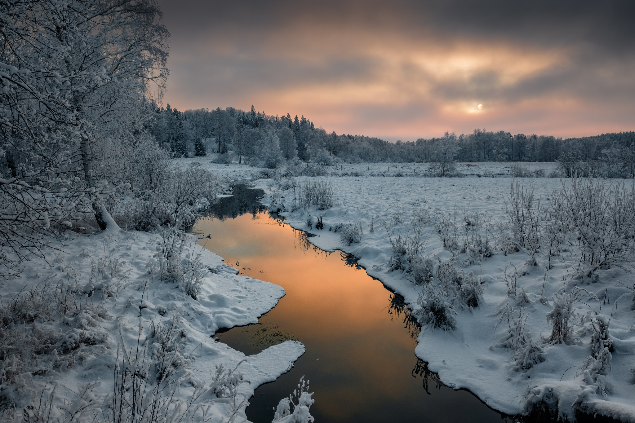 Winter afternoon in Sörmland Sweden by Anders.Mohlin