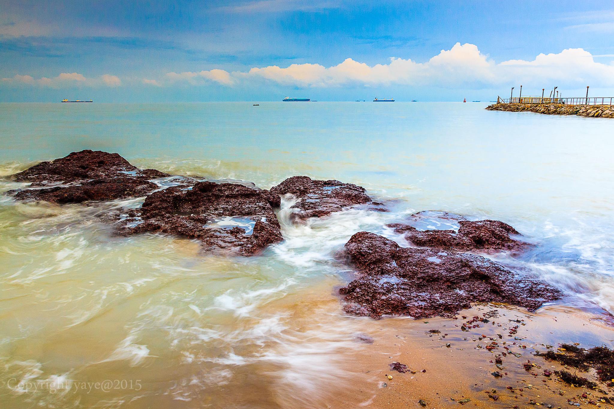 Photo in Nature #malaysia #melaka #rotunda #beach