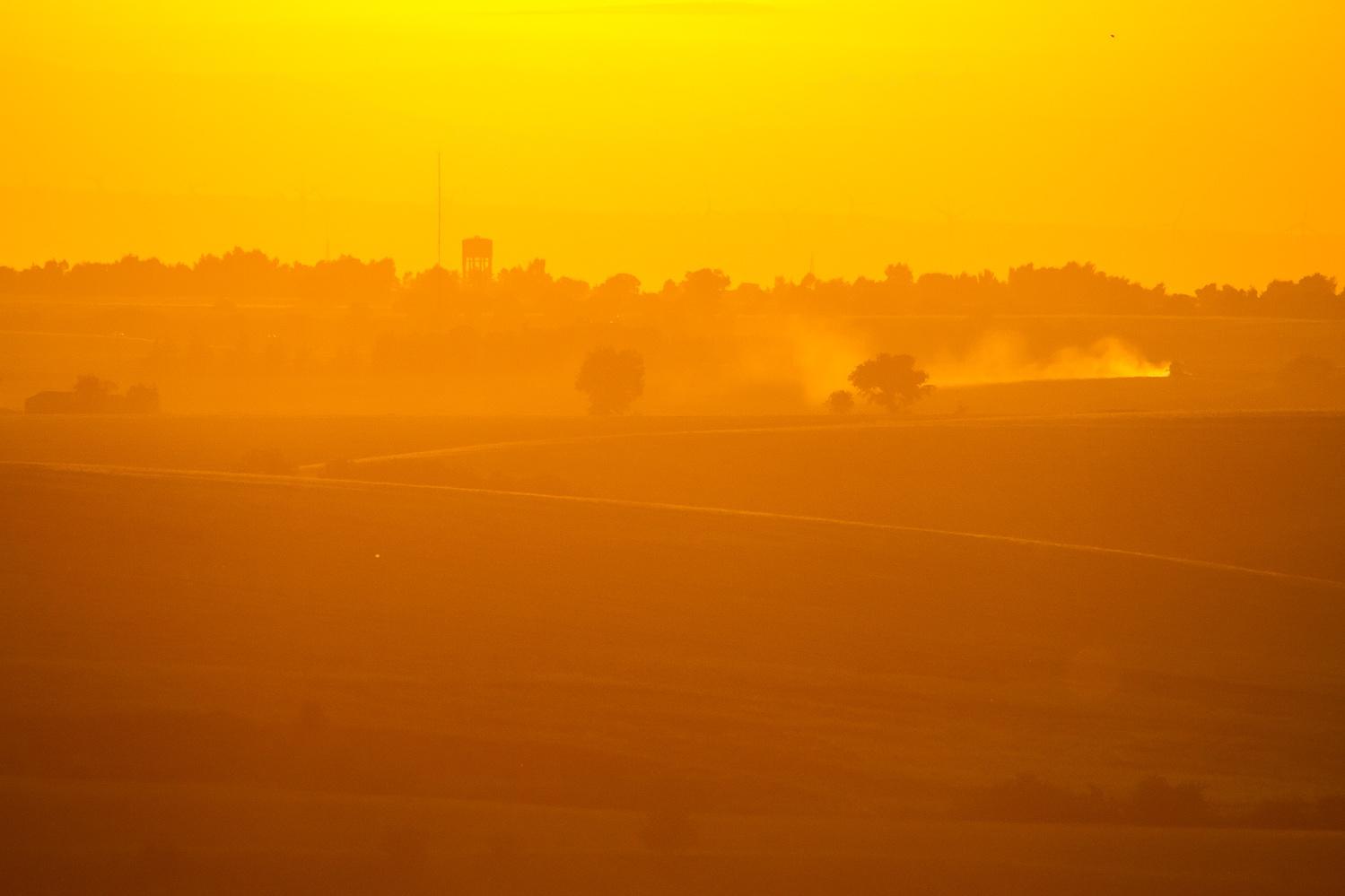 Photo in Landscape #landscape #nature #sunset #orange