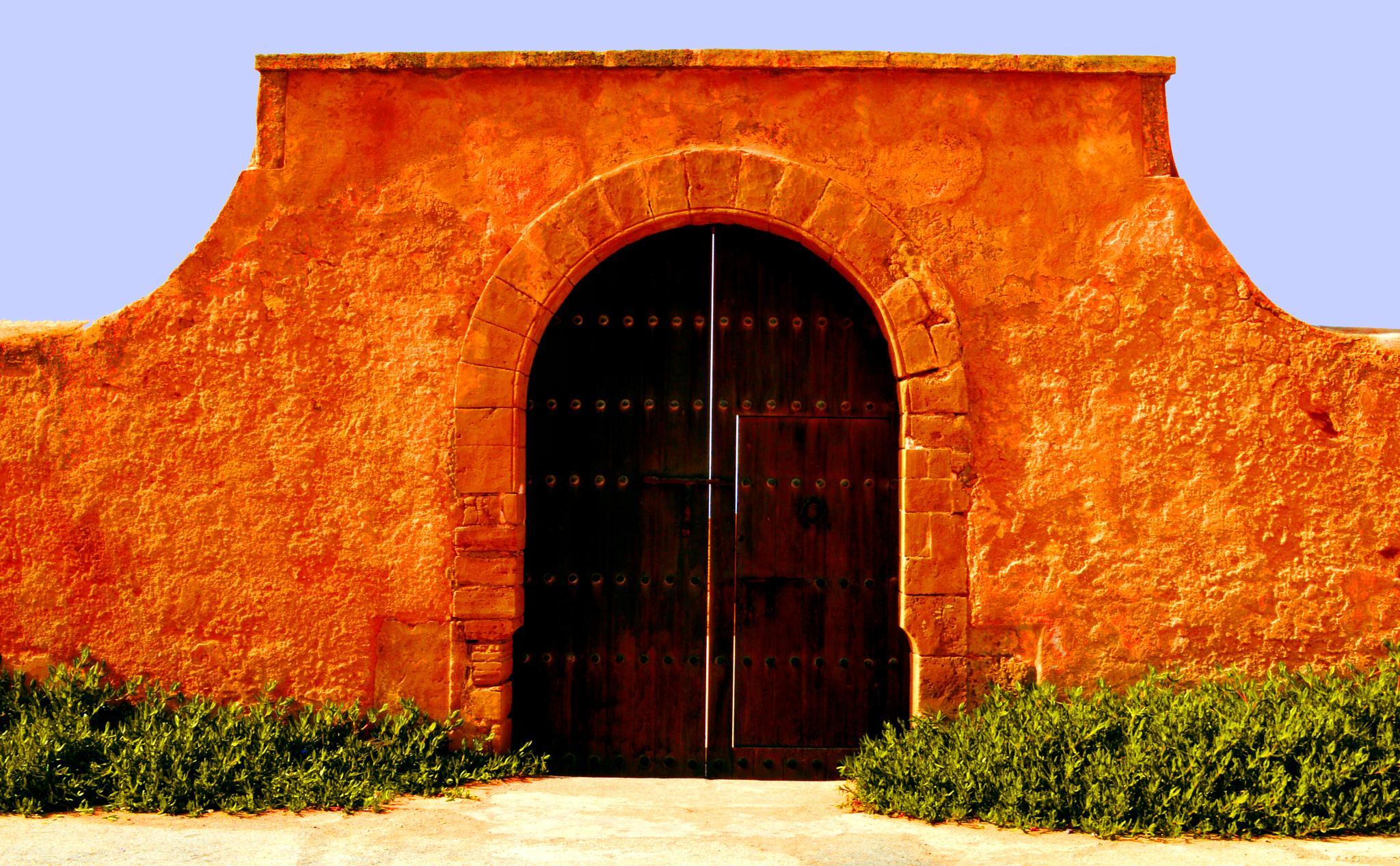 A Wall, A Door. Kasbah Des Oudaias by Merouane Benabdelkrim