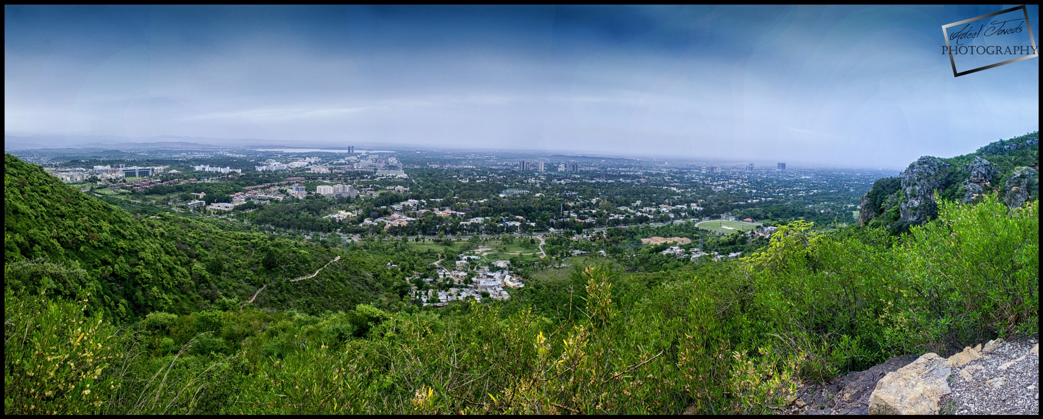 Beautiful View of Islamabad City From Margalla Hills by Adeel Javed