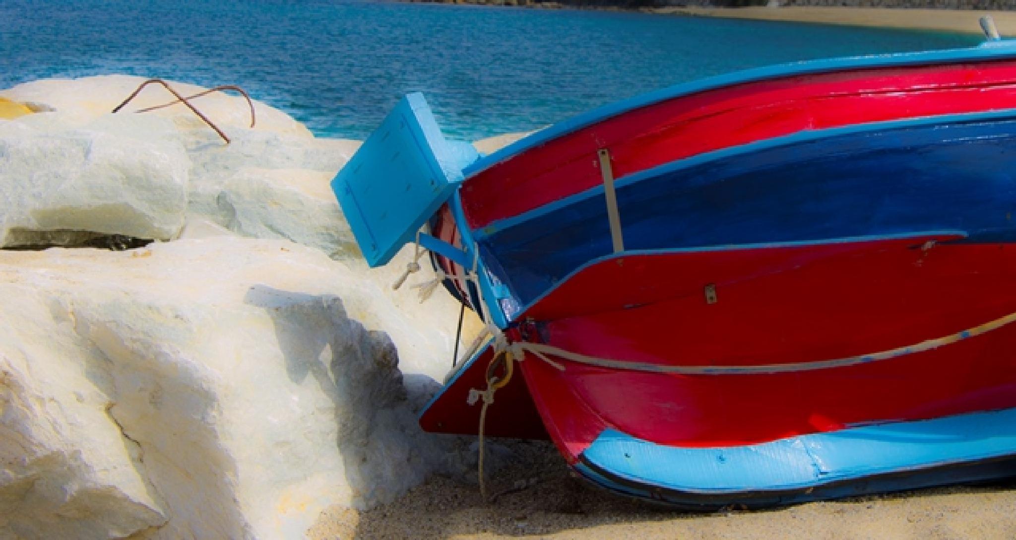Photo in Sea and Sand #craft #sun #sea #peach #beach