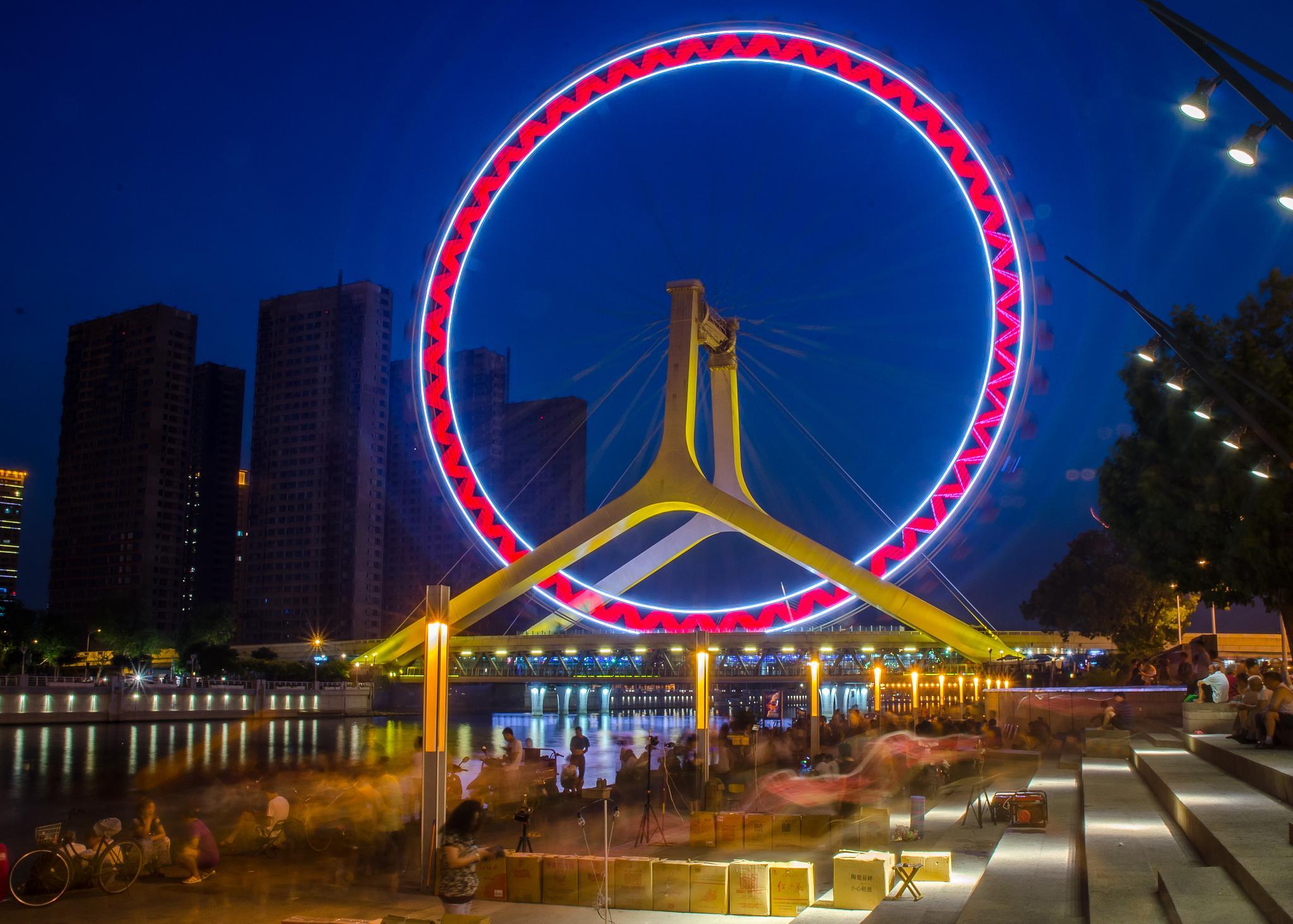 Tianjin Eye by pieter.vanderzweep