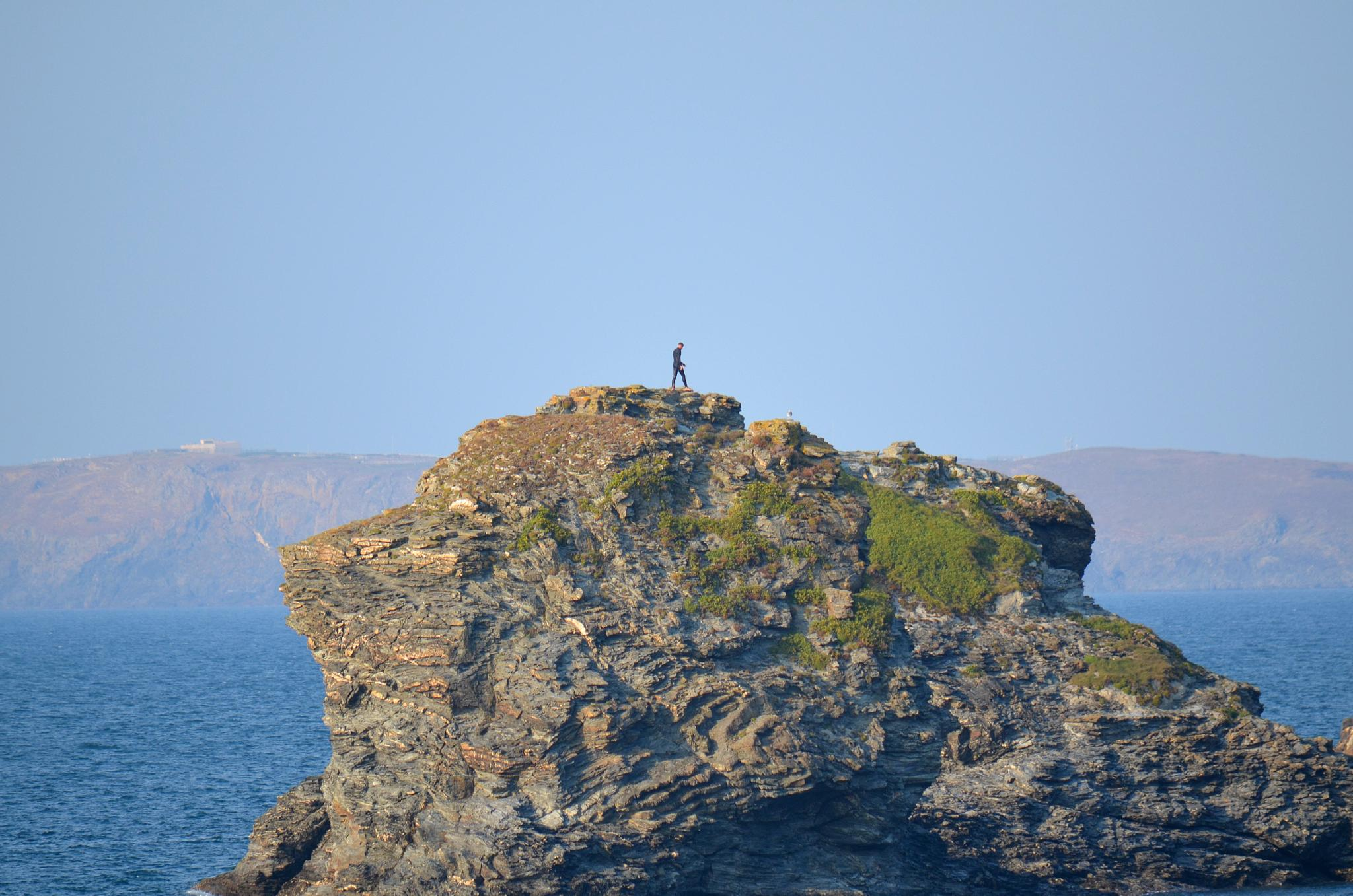 Photo in Sea and Sand #landscape #coast #alone #people #rock