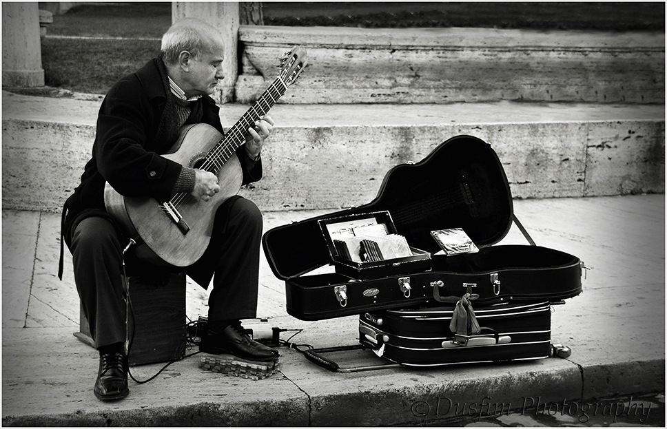 The musician  by Mario Mifsud