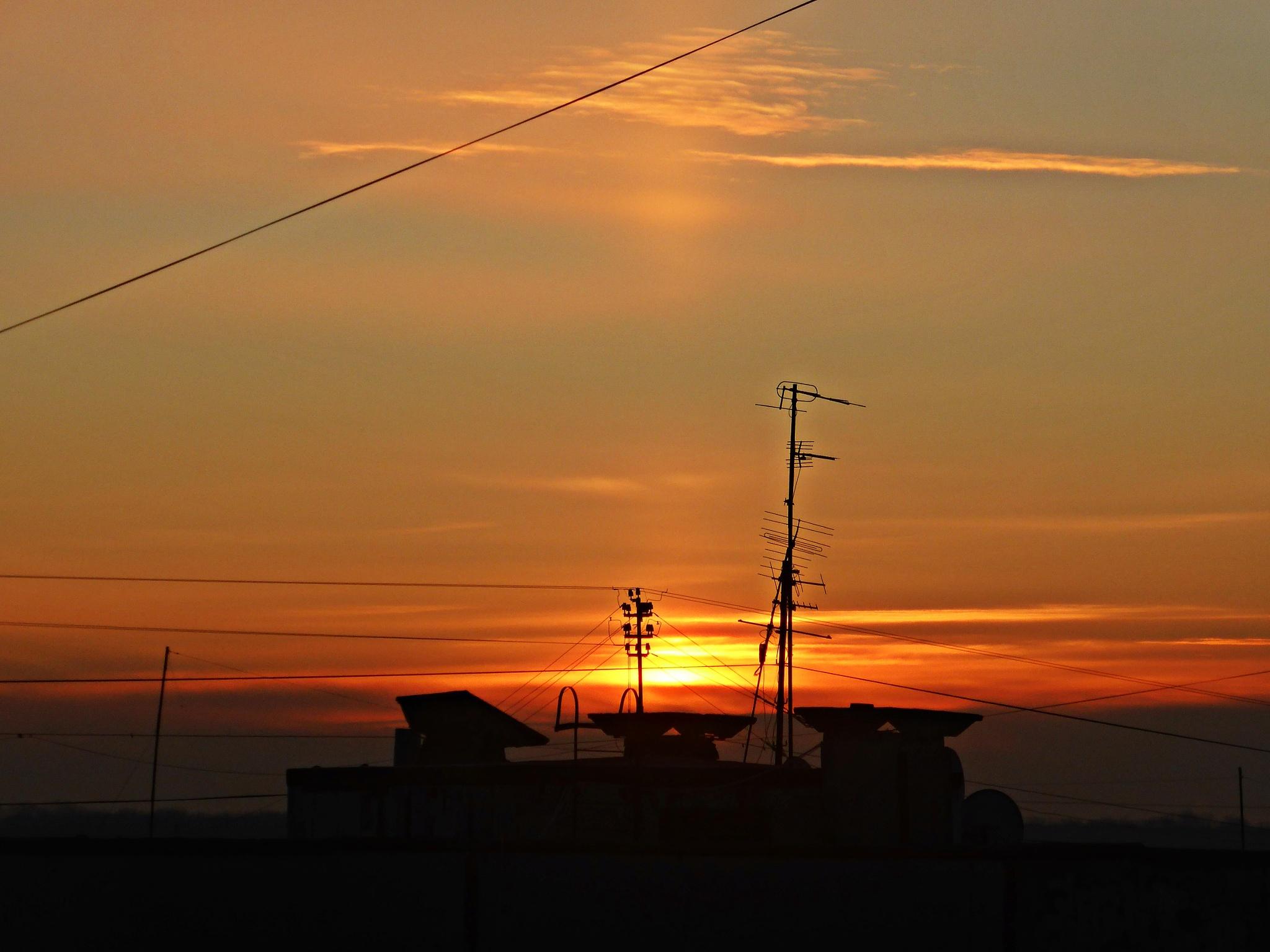 Sunrise in a big city by Luba