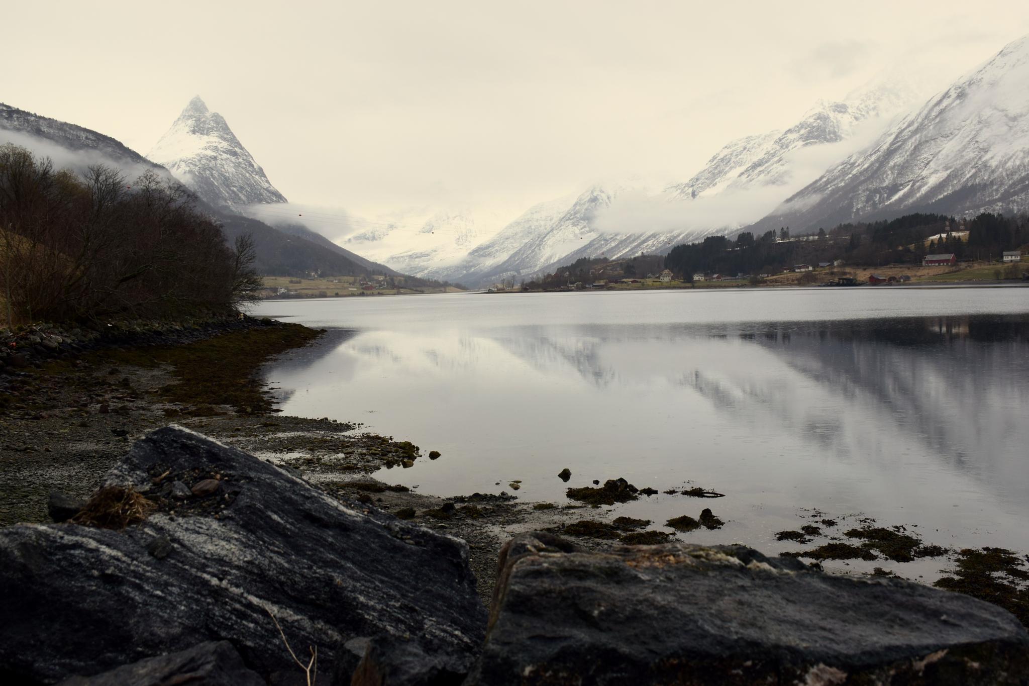 #Fjord#Mountain#Snow# by anne.l.brunstad