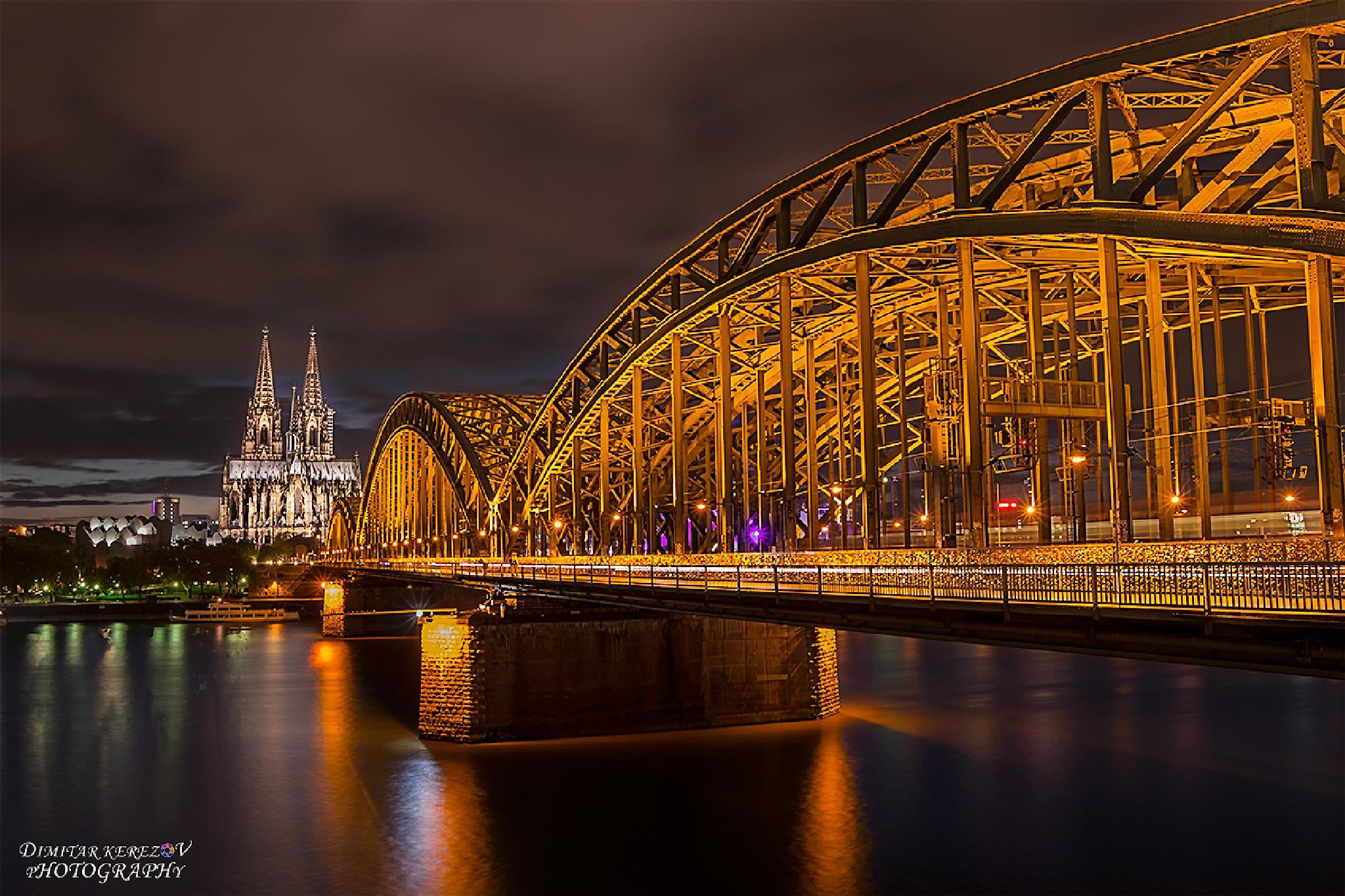 Hohenzollern Bruecke, Cologne - Germany by Dimitar Kerezov