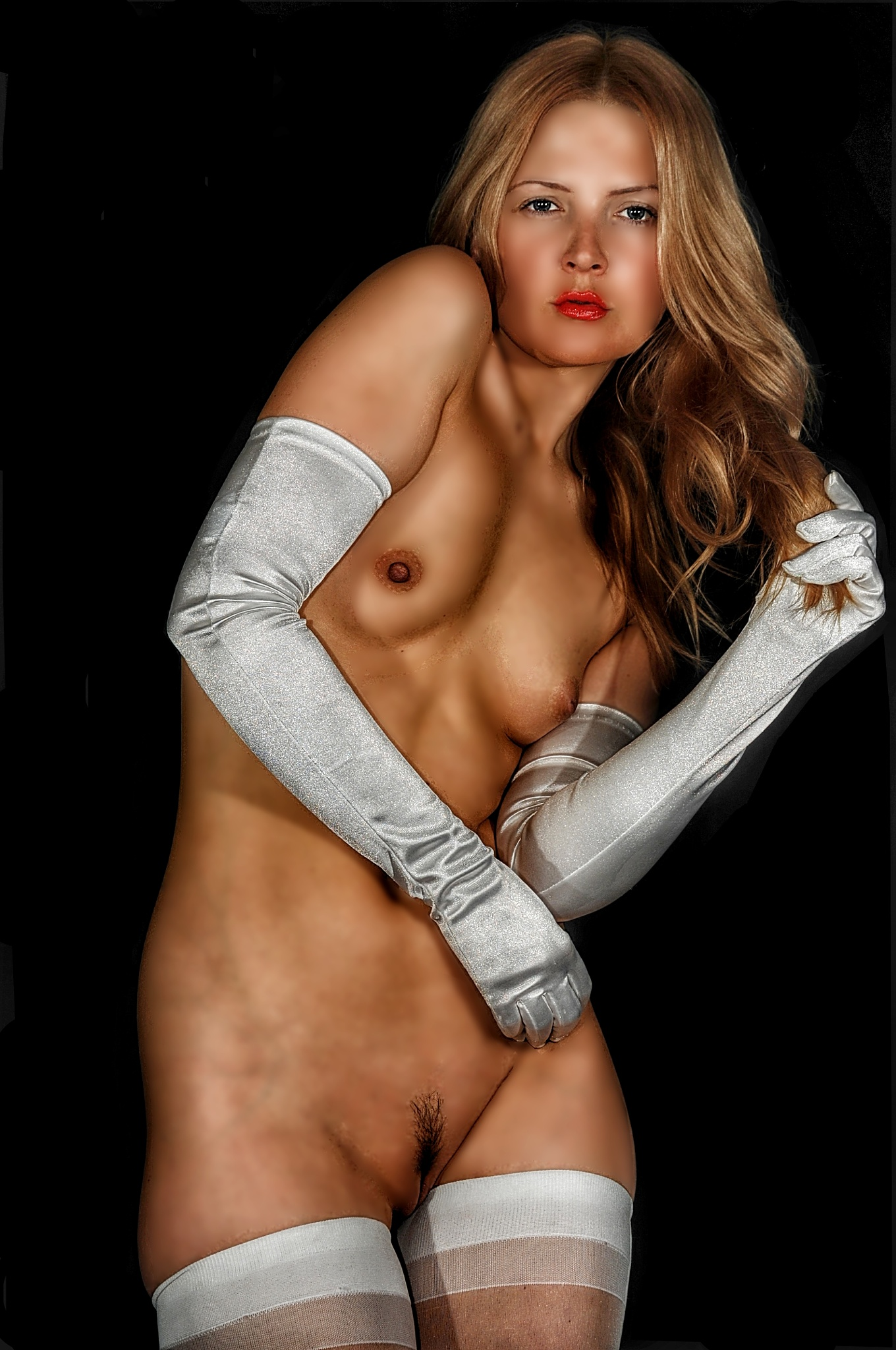 Photo in Nude #girl #nude #gloves #stockings