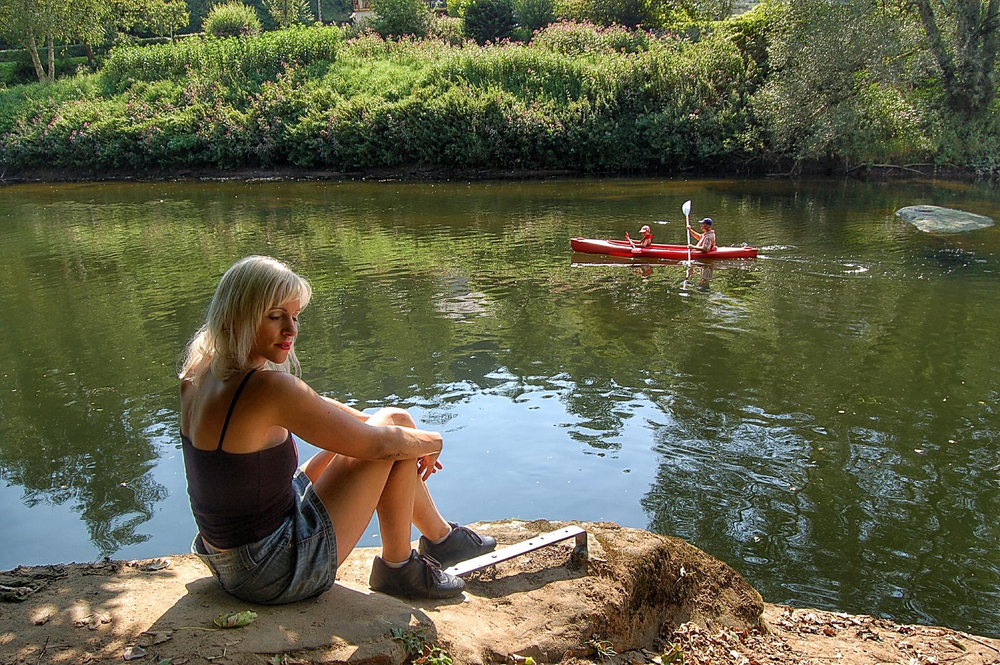 Photo in Fine Art #girl #river #dreaming