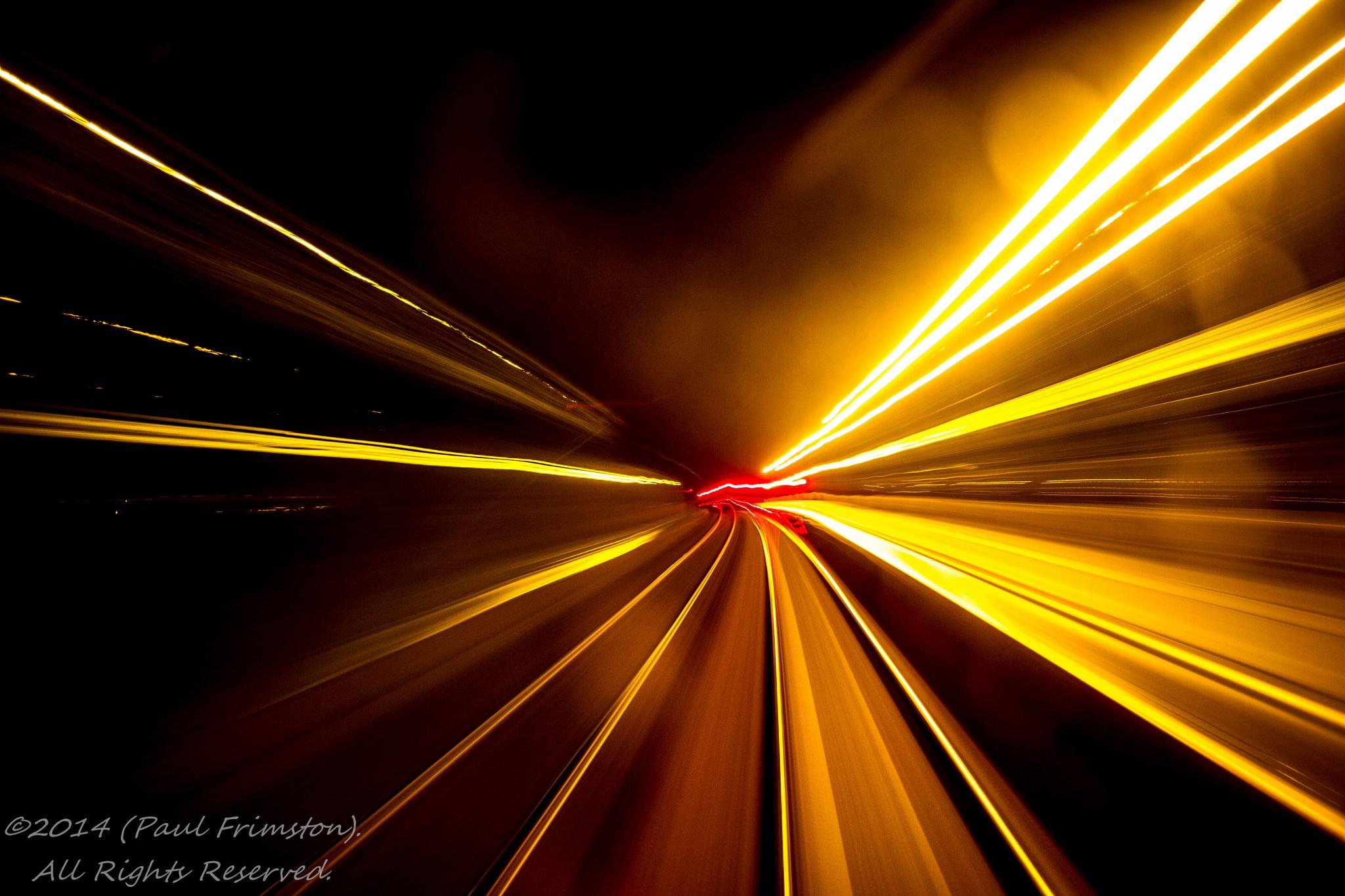Photo in Travel #railway #light trails