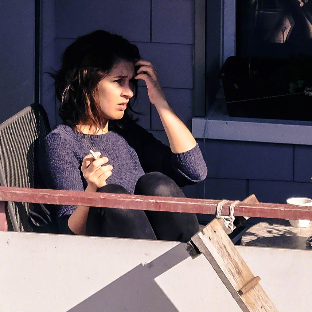 Photo in People #woman #smoke #cigarette